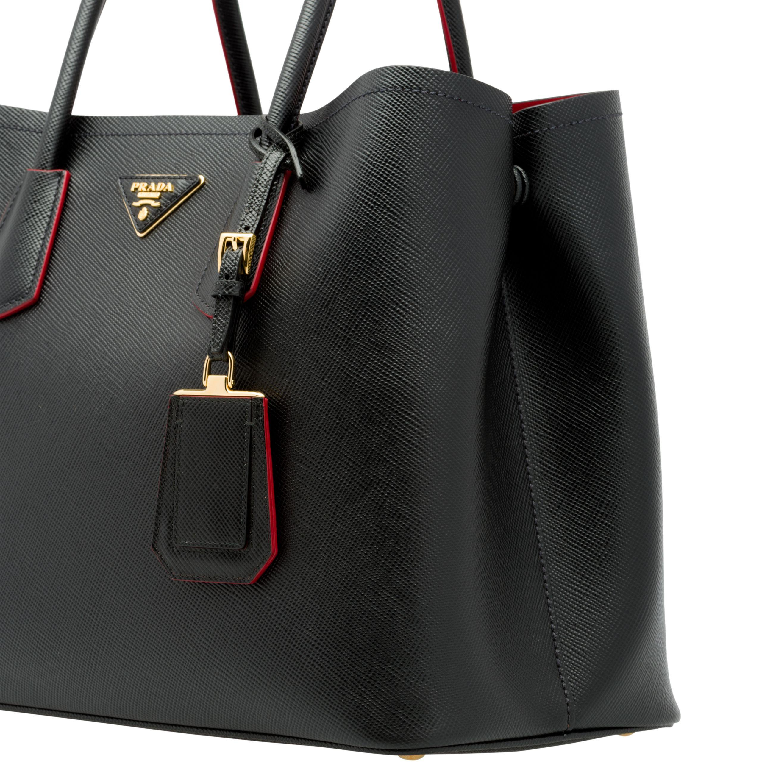06ad5816857 Prada Double Bag Large in Black - Lyst