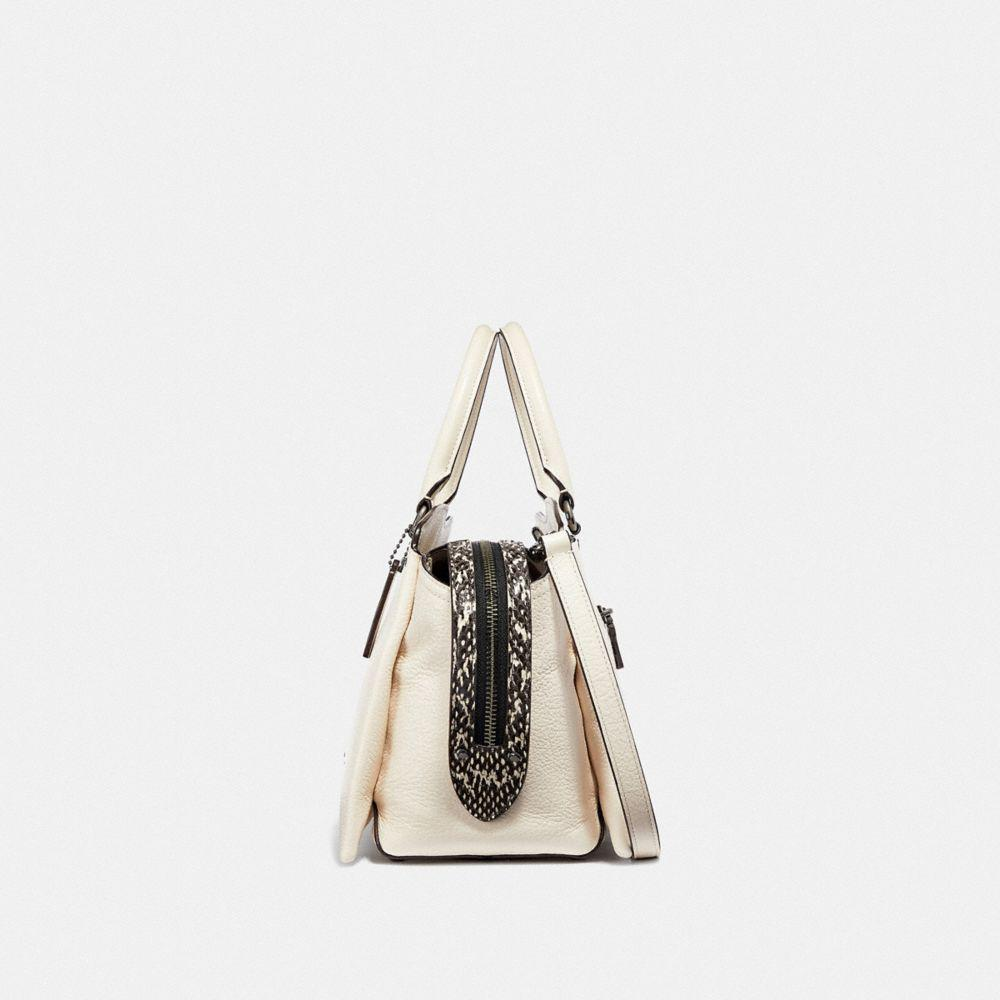 f36fc3280bae COACH - Natural Drew Satchel With Snakeskin Detail - Lyst. View fullscreen