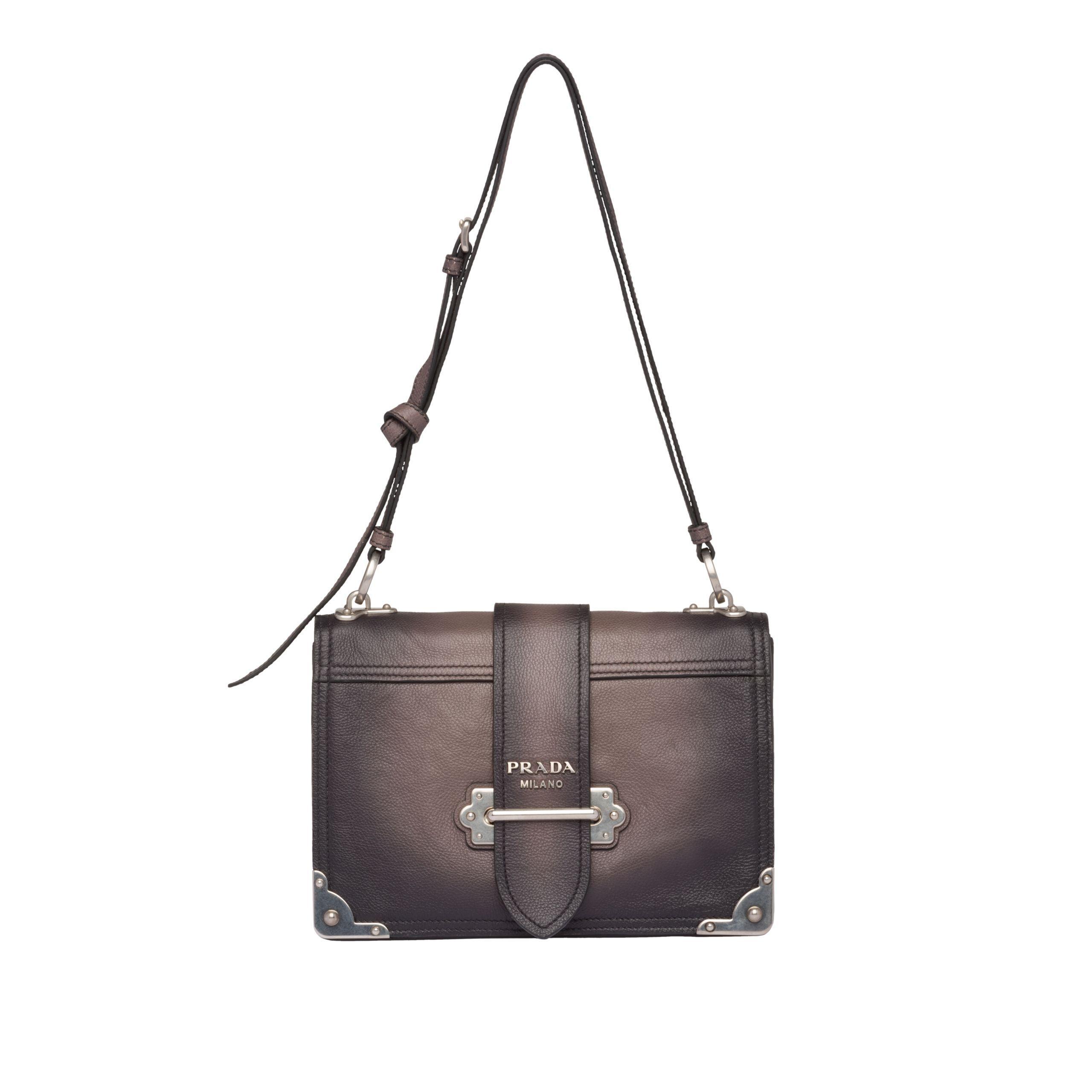 53e5a4c9347a Prada - Multicolor Cahier Leather Shoulder Bag - Lyst