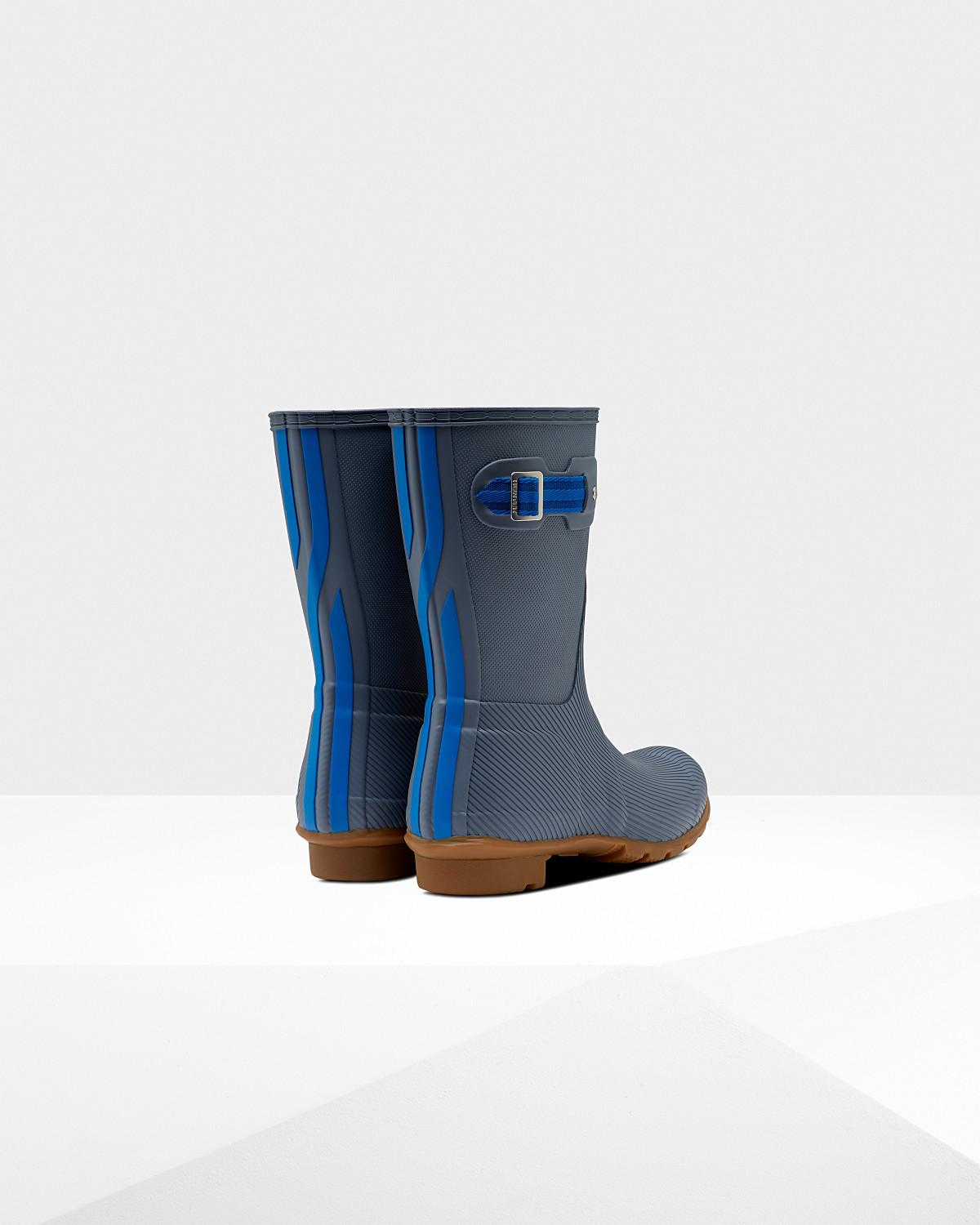 4286fcb6d07 Hunter - Blue Women s Original Short Seaton Rain Boots - Lyst. View  fullscreen