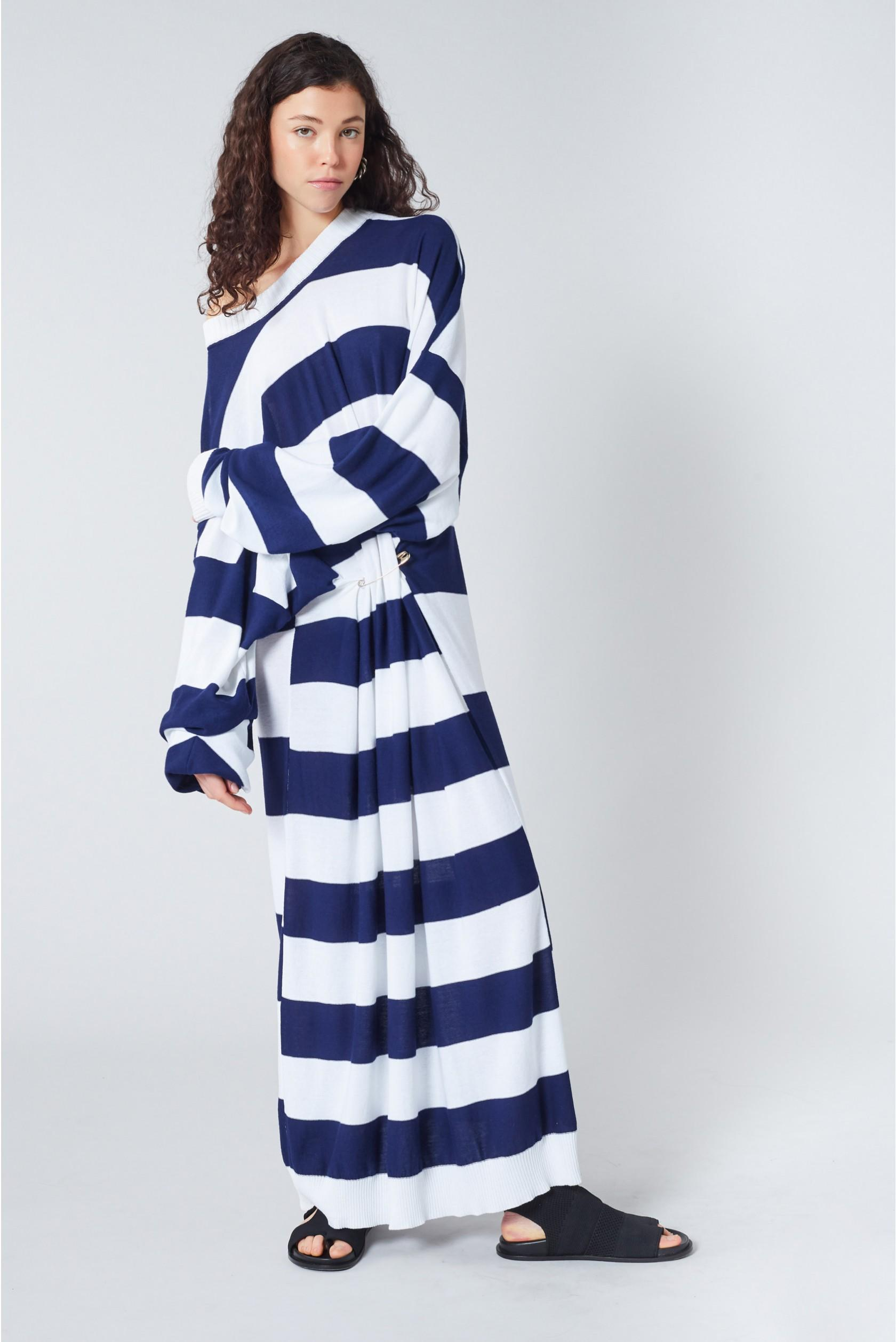 9255fc5ec30 Sonia Rykiel. Women's Blue Striped Knit Maxi Dress. $1,390 From Orchard Mile