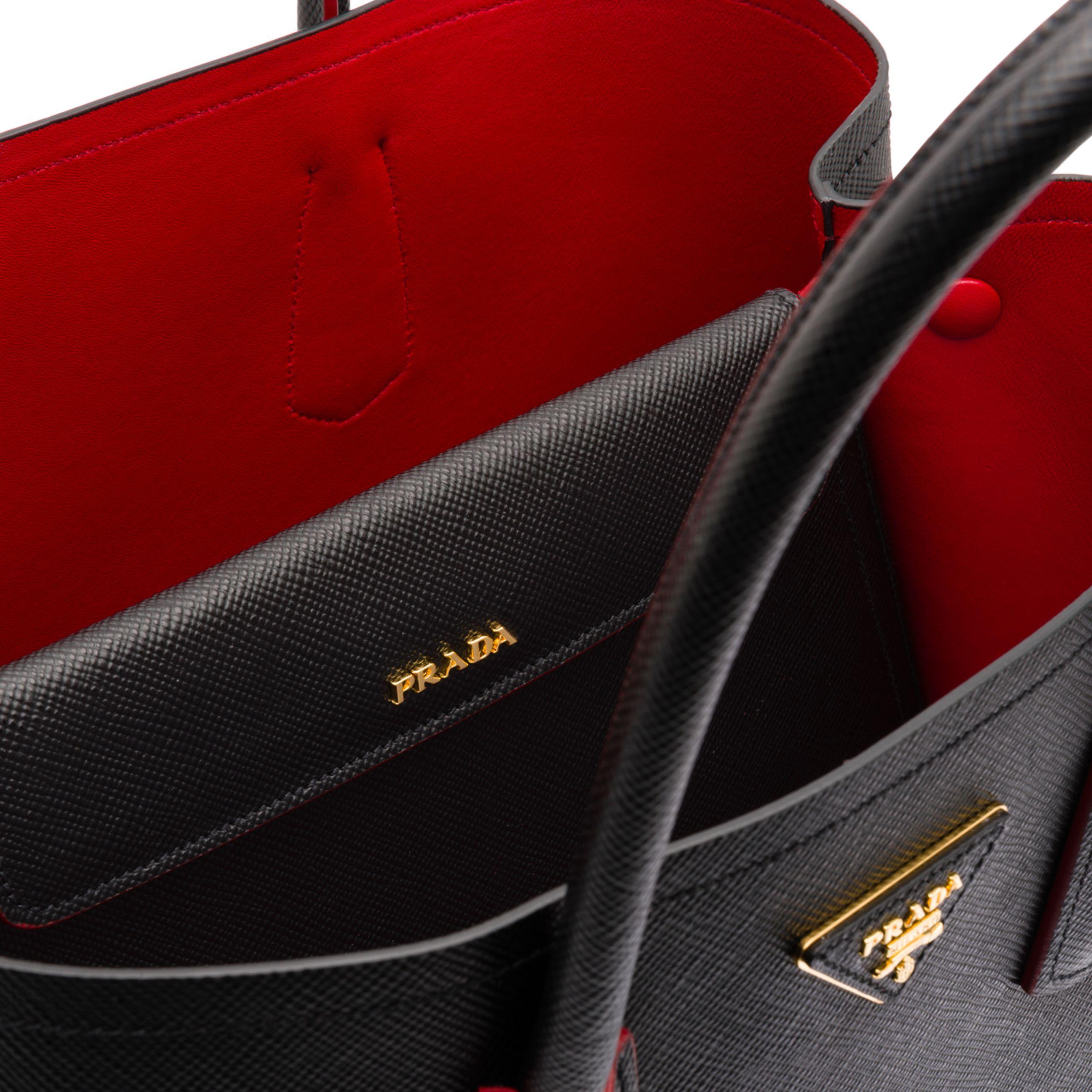 3210e5d01244 Prada - Black Double Bag Large - Lyst. View fullscreen
