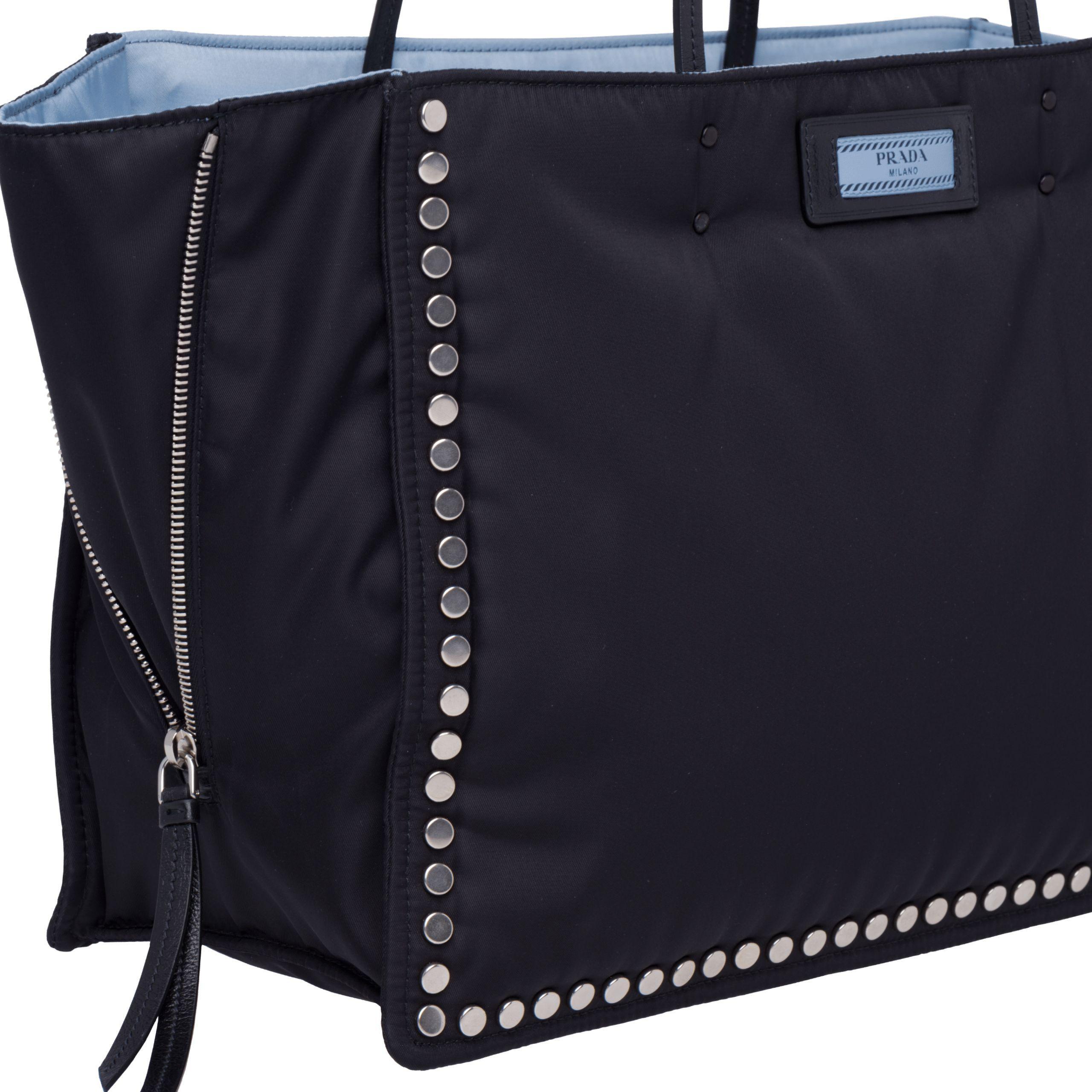 9d7433ff844e ... shop prada black etiquette fabric tote lyst. view fullscreen b7996 c3ed4