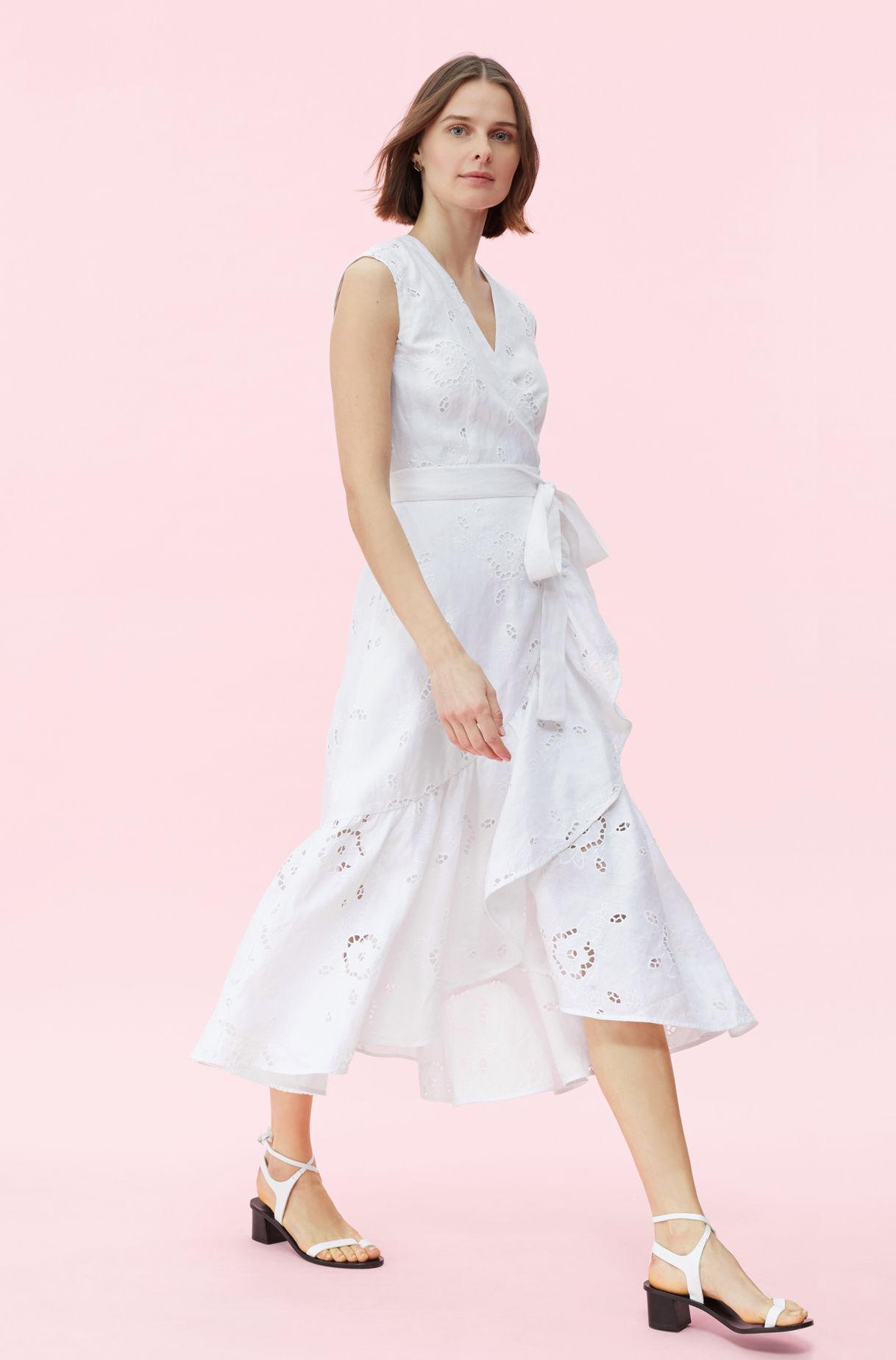 ad2ad8df1c2 Rebecca Taylor - Multicolor Terri Embroidered Wrap Dress - Lyst. View  fullscreen