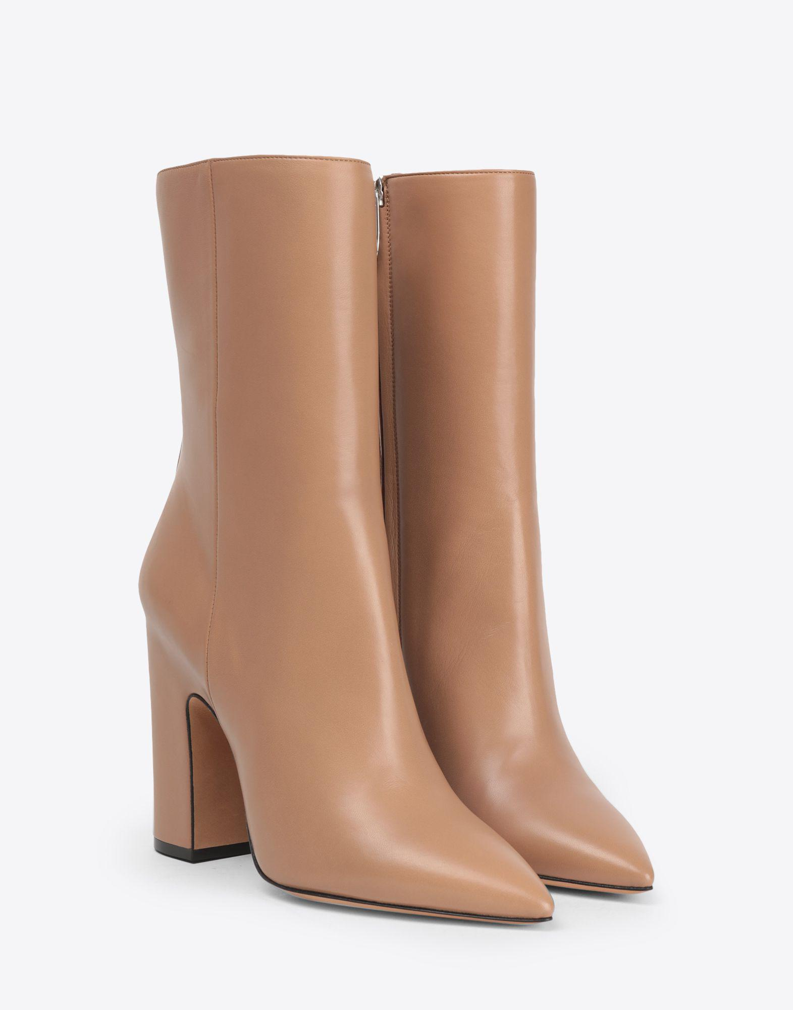 749a4b55dfa Lyst - Maison Margiela High Leather Ankle Boots in Natural