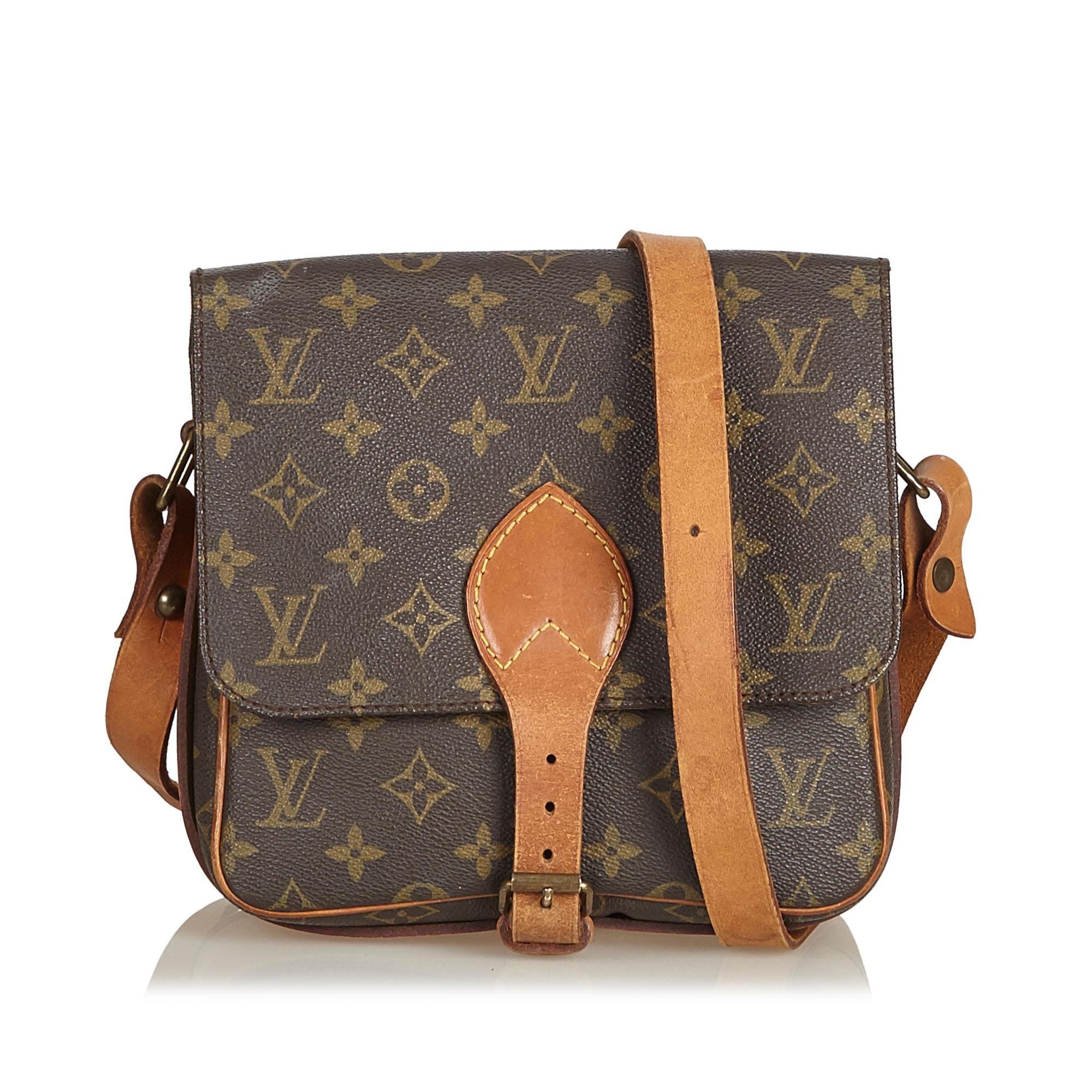 3550977e166f Lyst - Louis Vuitton Monogram Cartouchiere Mm in Brown