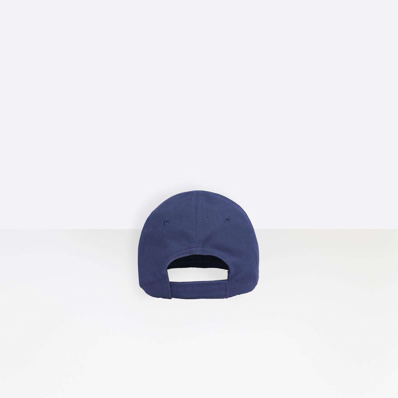 4995ac2f Balenciaga - Blue Bb Visor Cap - Lyst. View fullscreen