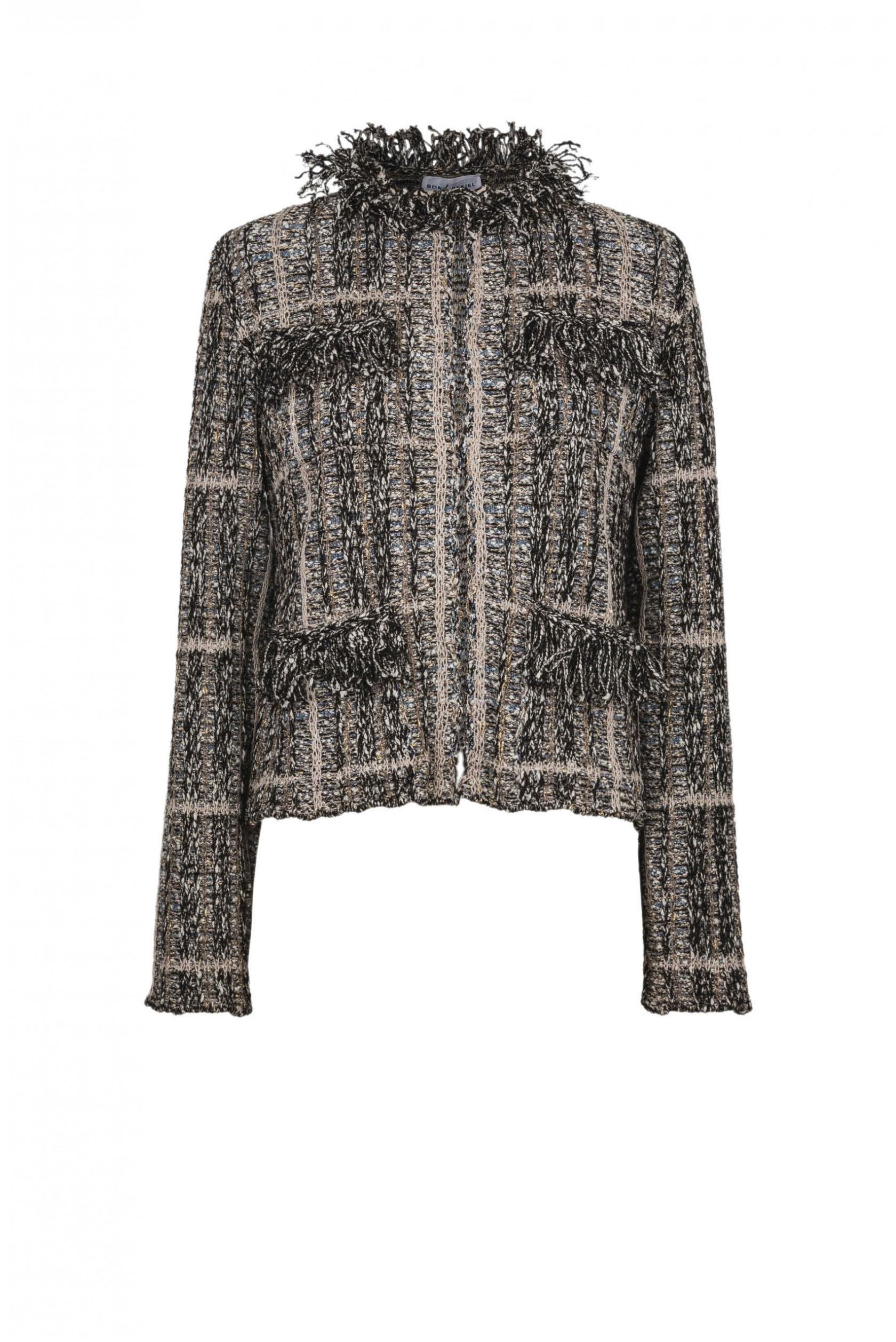 cfadbf74c02 Lyst - Sonia Rykiel Summer Tweed Cropped Jacket in Natural