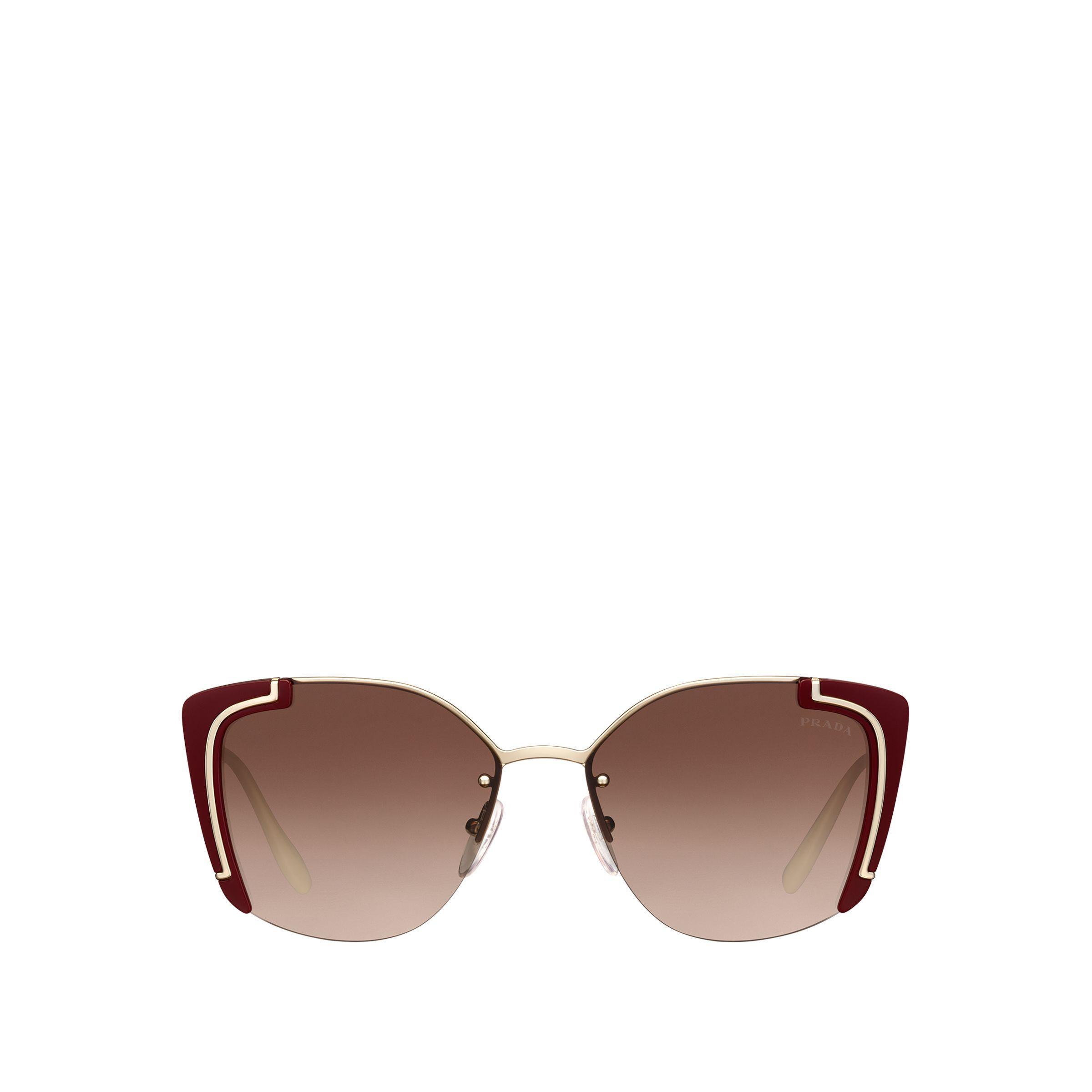 810c86adc6c Prada - Brown Ornate Sunglasses - Lyst. View fullscreen