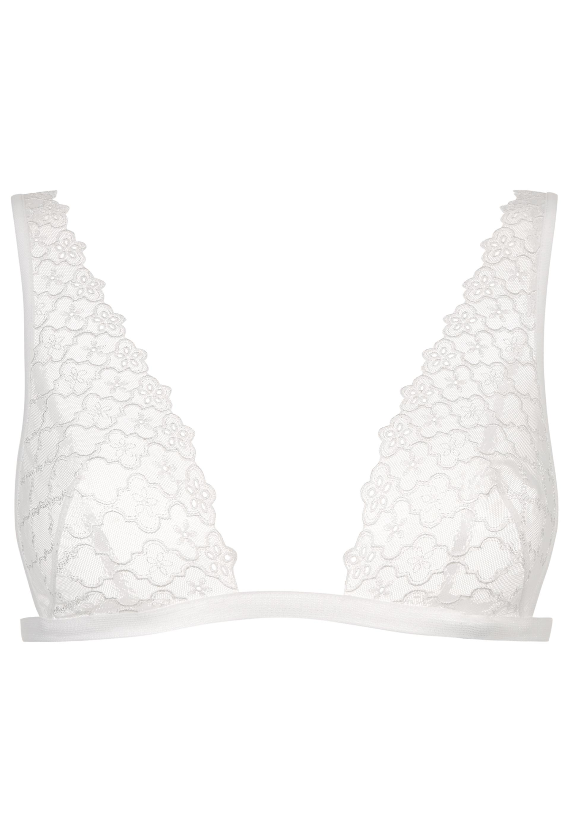 2fabef5f576eb9 Lyst - La Perla Contemporanea Off-white Sheer Embroidered Triangle ...