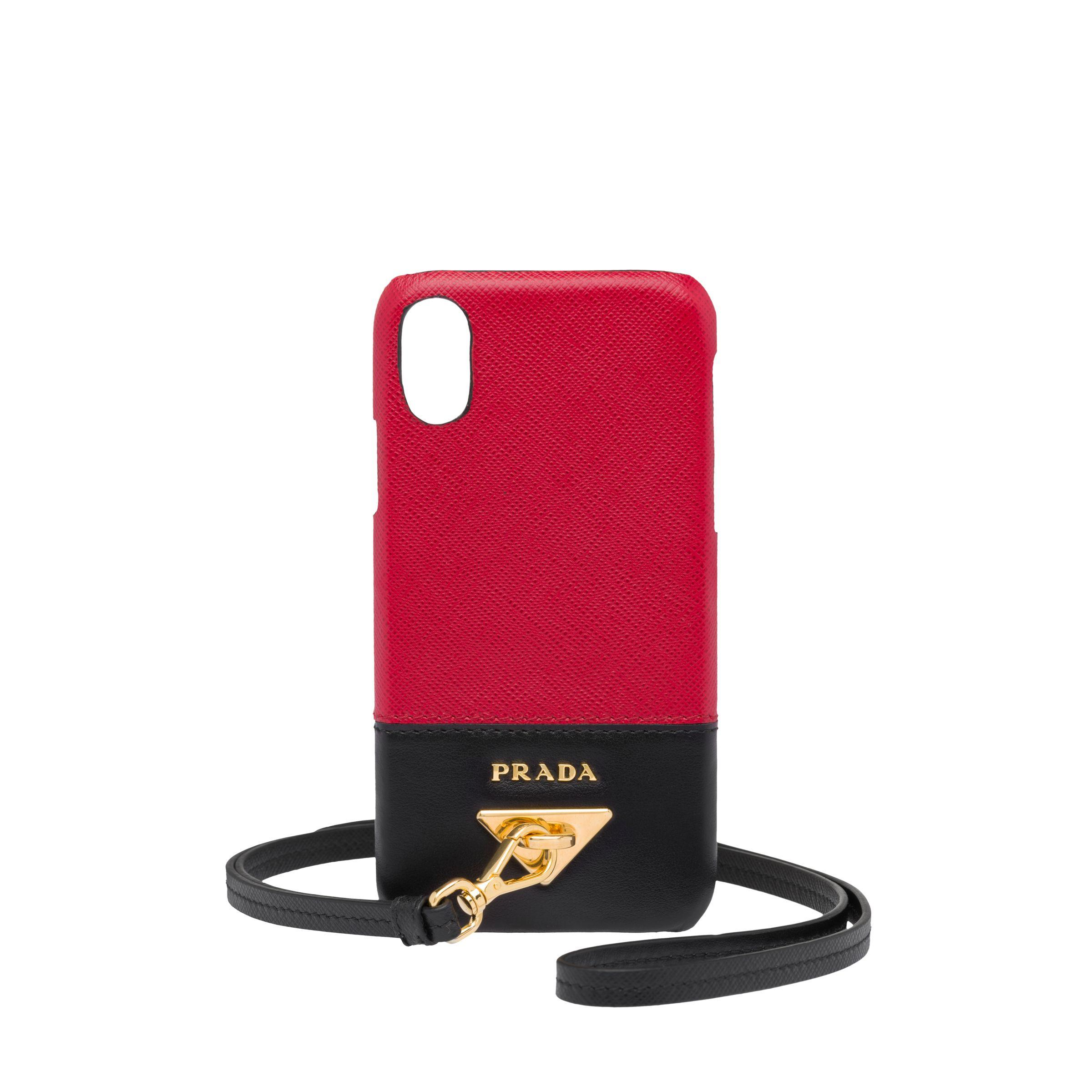 c7192a52 Lyst - Prada My Character Leather Iphone Cover