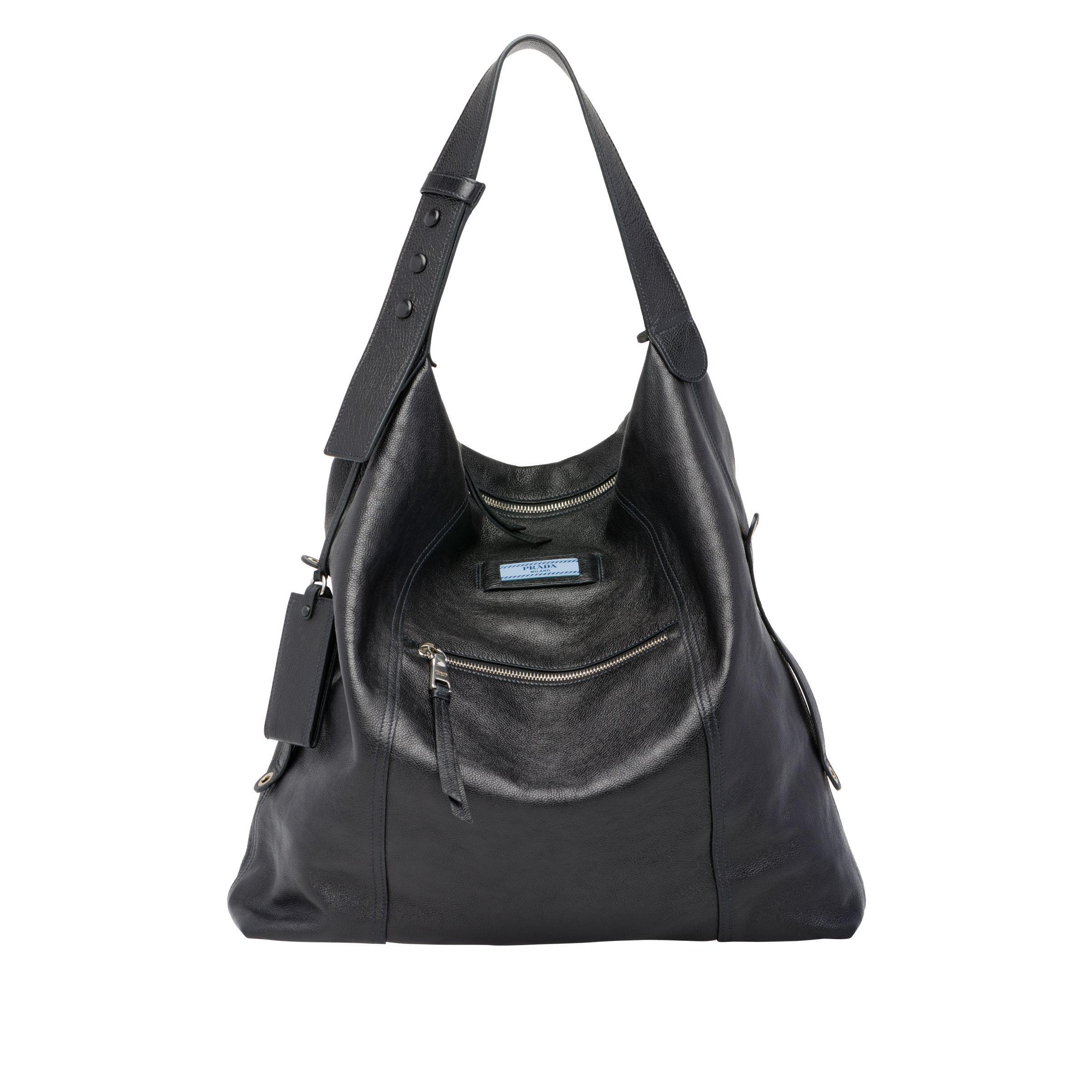 7ca255faf35b Prada - Black Etiquette Leather Bag - Lyst. View fullscreen