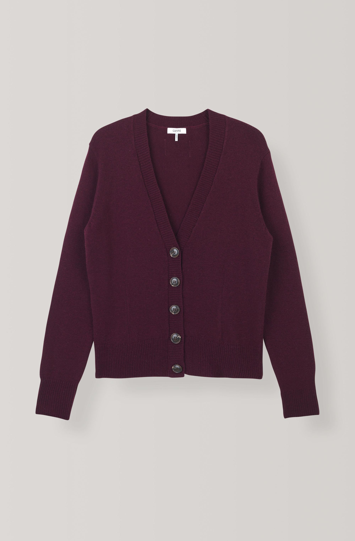 9f0d70f8c2 Ganni - Multicolor Wool Knit Cardigan - Lyst. View fullscreen