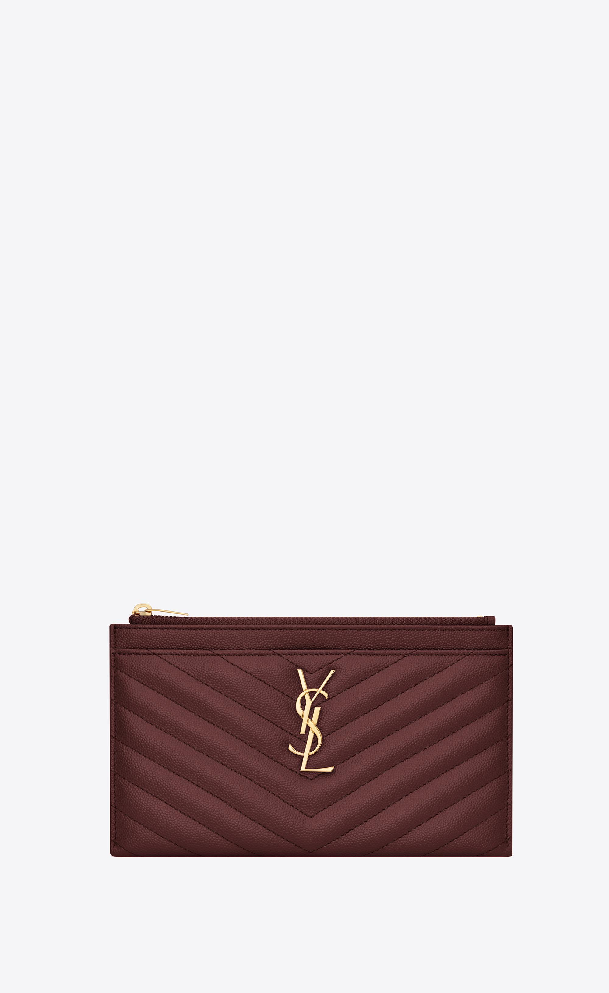 Lyst - Saint Laurent Monogram Bill Pouch in Red cd67d66ea1fba