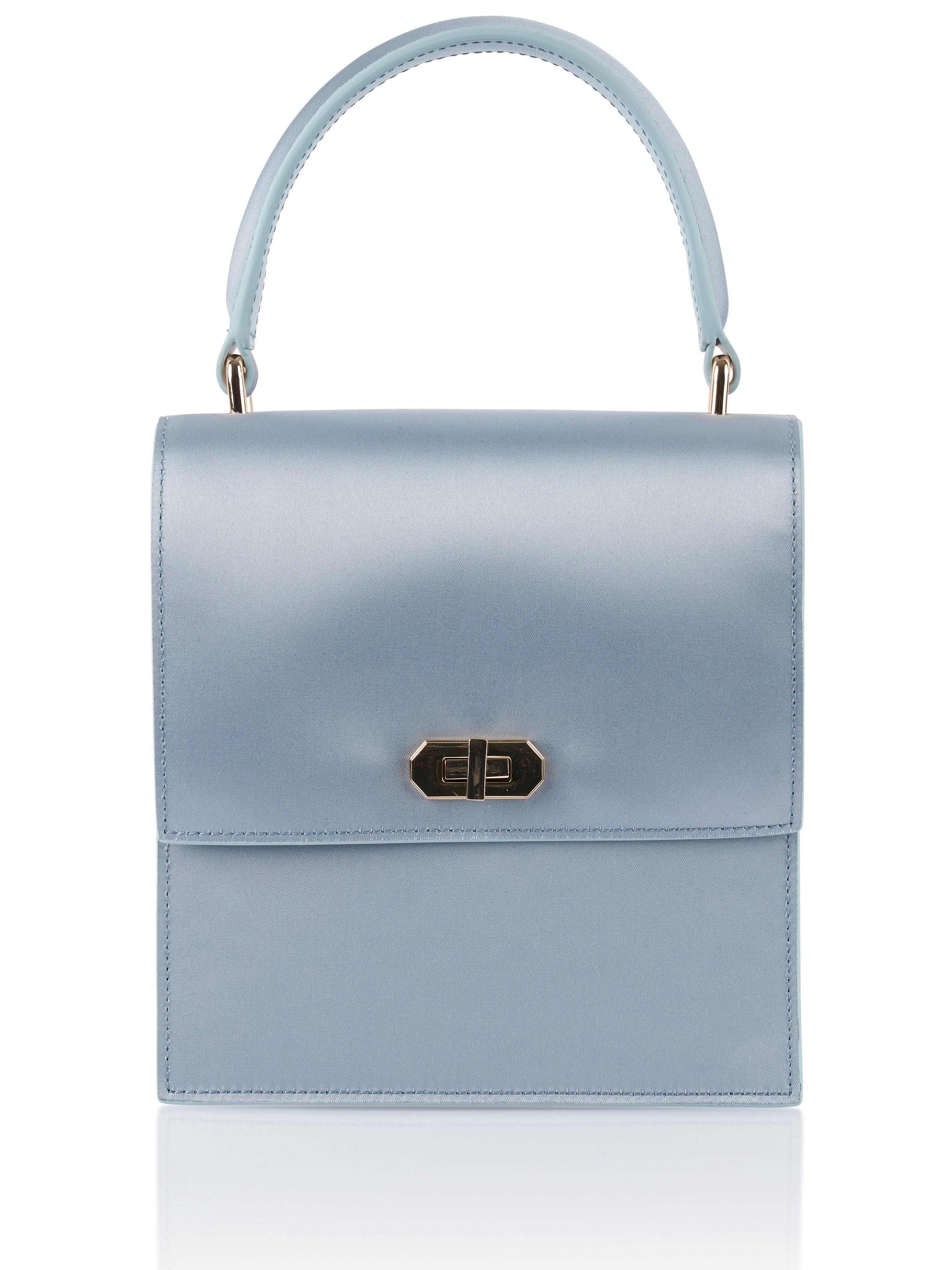df59c3e668132 NEELY & CHLOE. Women's Mini Blue Satin Lady Bag. $298 From Orchard Mile