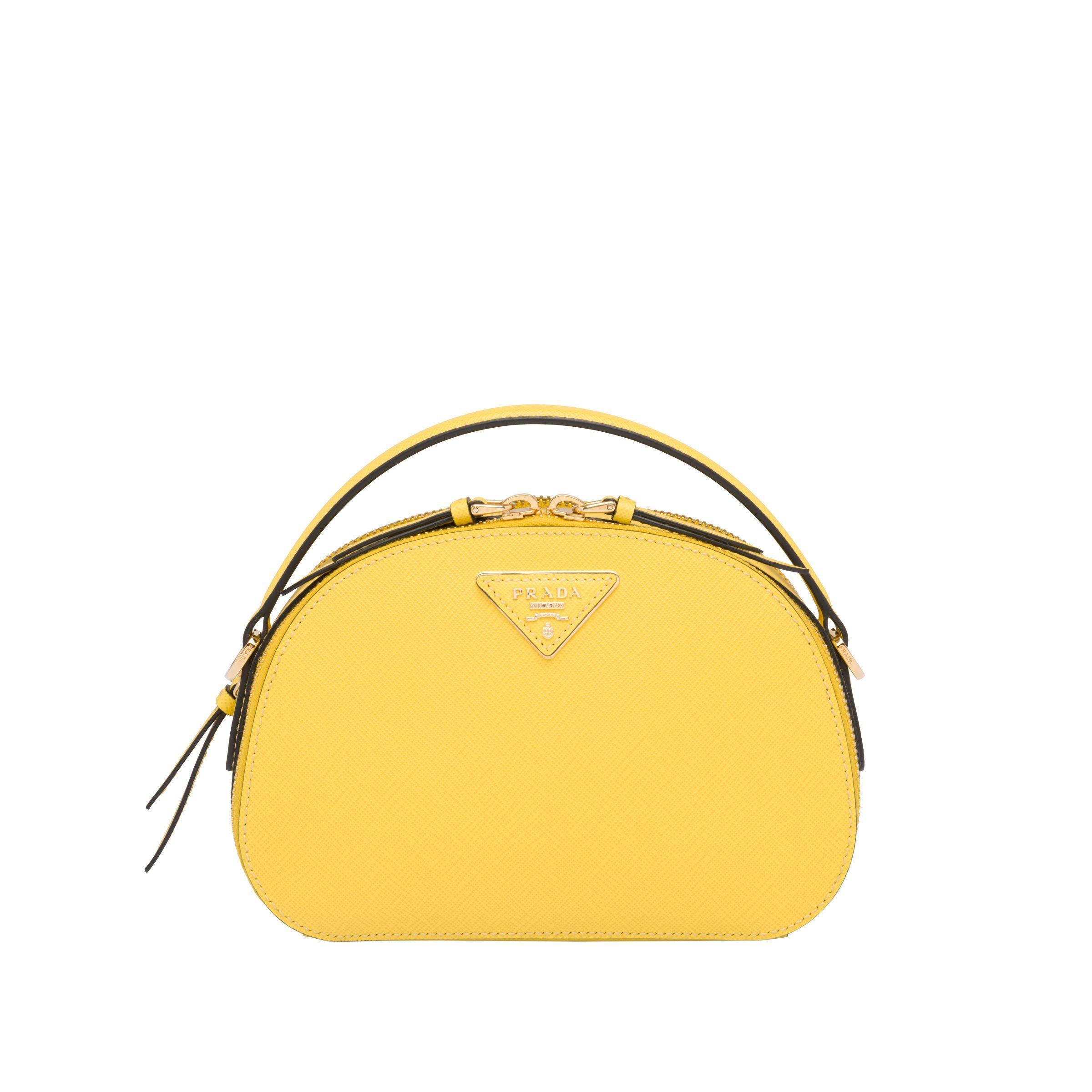 d441713c7a8e65 Prada - Yellow Odette Saffiano Leather Bag - Lyst. View fullscreen