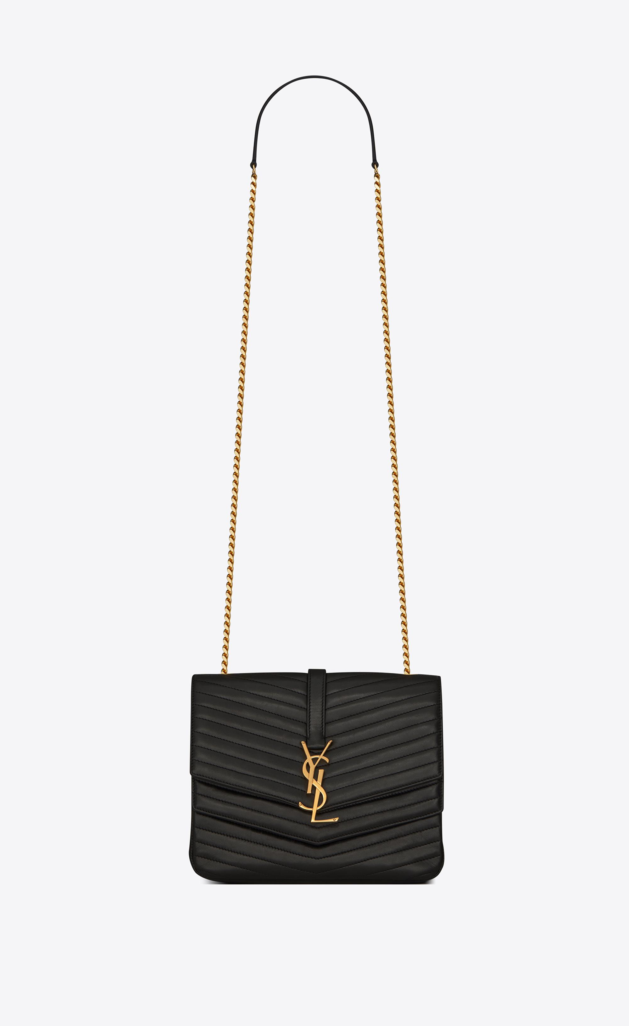 73c0b42fb3b5e Lyst - Saint Laurent Sulpice Medium in Black