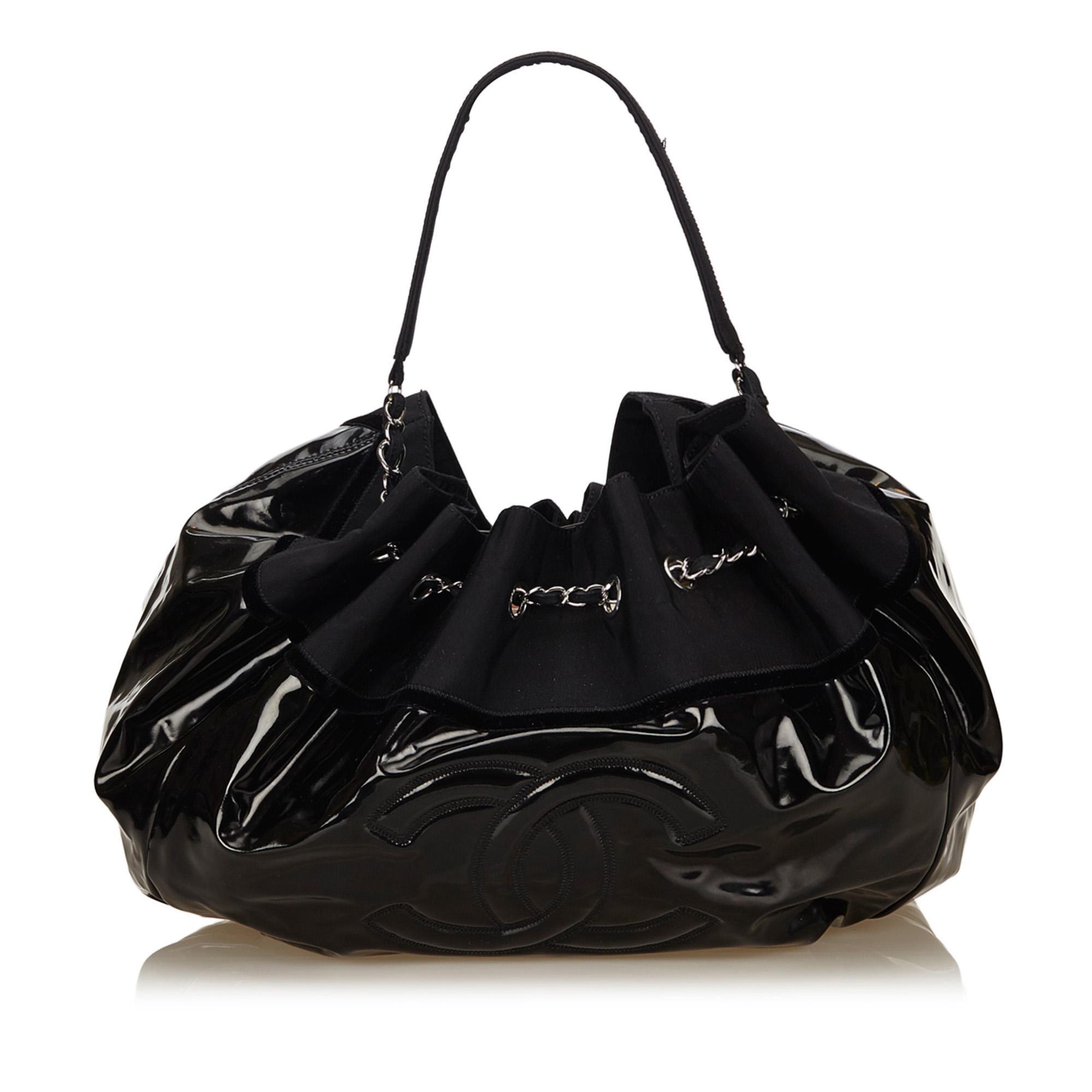 defec8911af Lyst - Chanel Vinyl Stretch Spirit Cabas Tote Bag in Black
