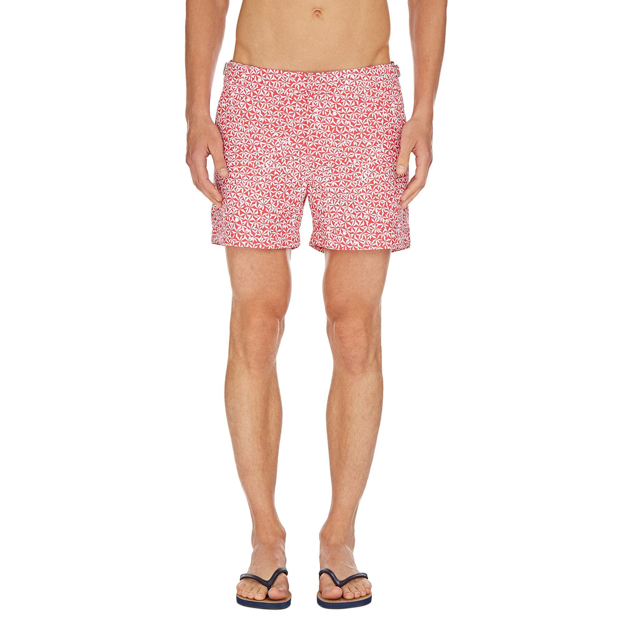 2ca5720c8f Orlebar Brown - Red Setter Foglia Anemone Shorter-length Swim Shorts for Men  - Lyst. View fullscreen