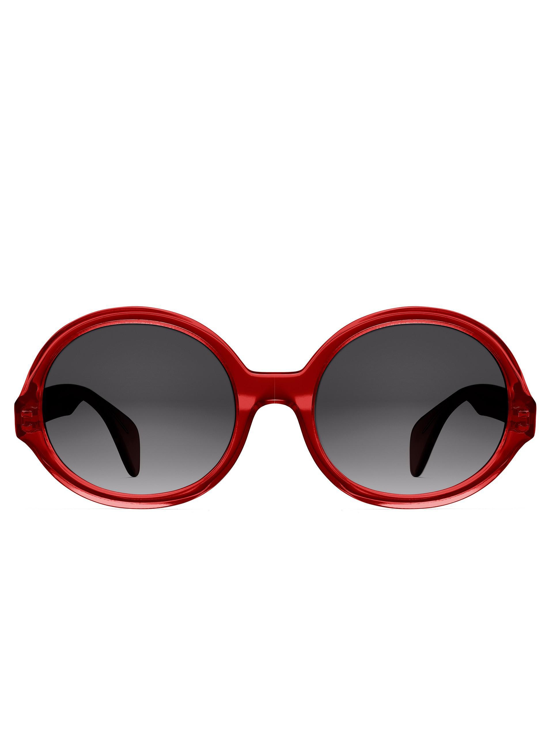 d009c526a2 Oscar De La Renta X Morgenthal Frederics Regina Sunglasses in Red - Lyst