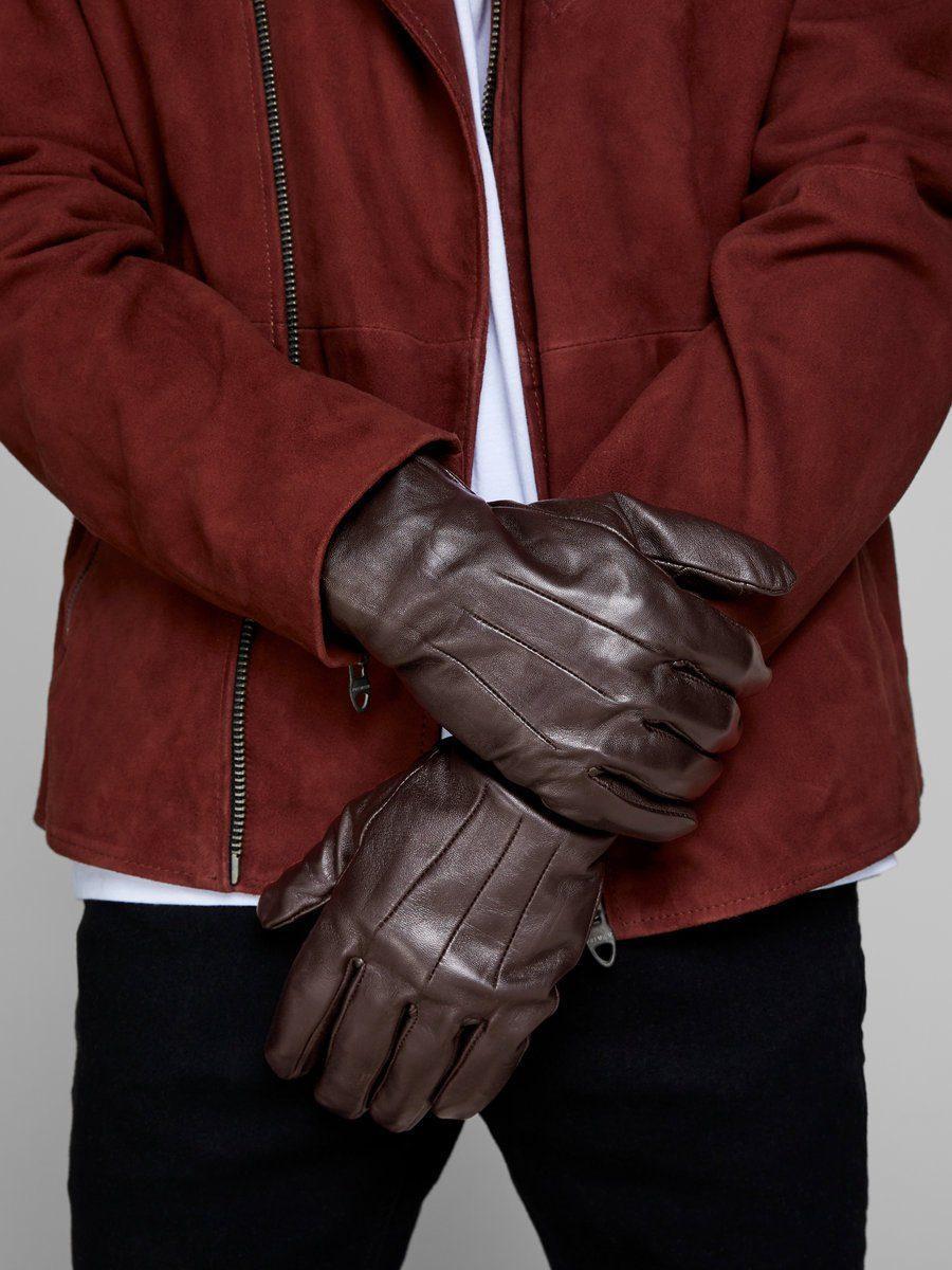 42536dc8a0ca65 Jack & Jones Leder Handschuhe in Braun für Herren - Lyst