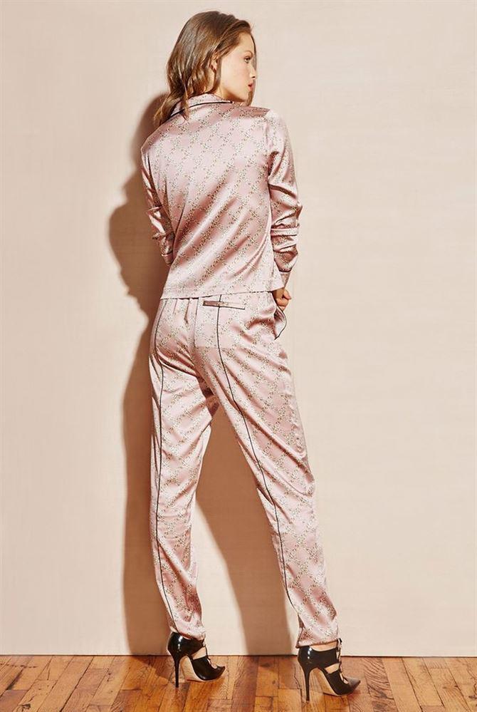 629ea103d9 Lyst - Fleur du Mal Contrast Back Seam Pajama Pants Rose Chain in Pink