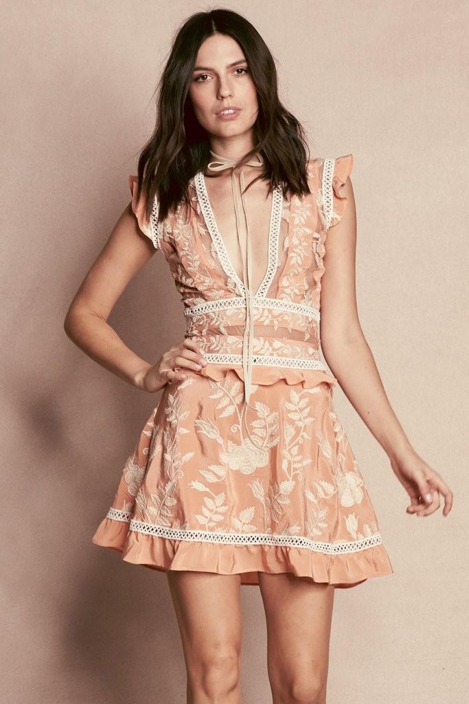 Lyst For Love Lemons Mia Paneled Mini Dress In Pink