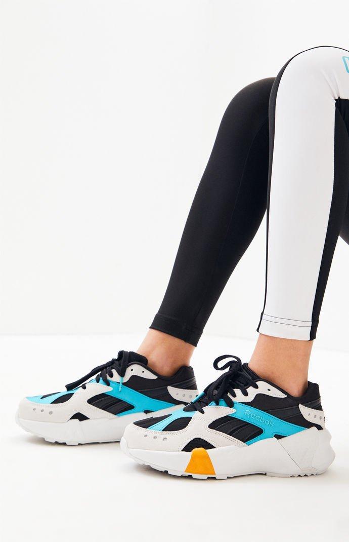 1c14f927575e0 Reebok - X Gigi Hadid White   Black Aztrek Double Sneakers - Lyst. View  fullscreen