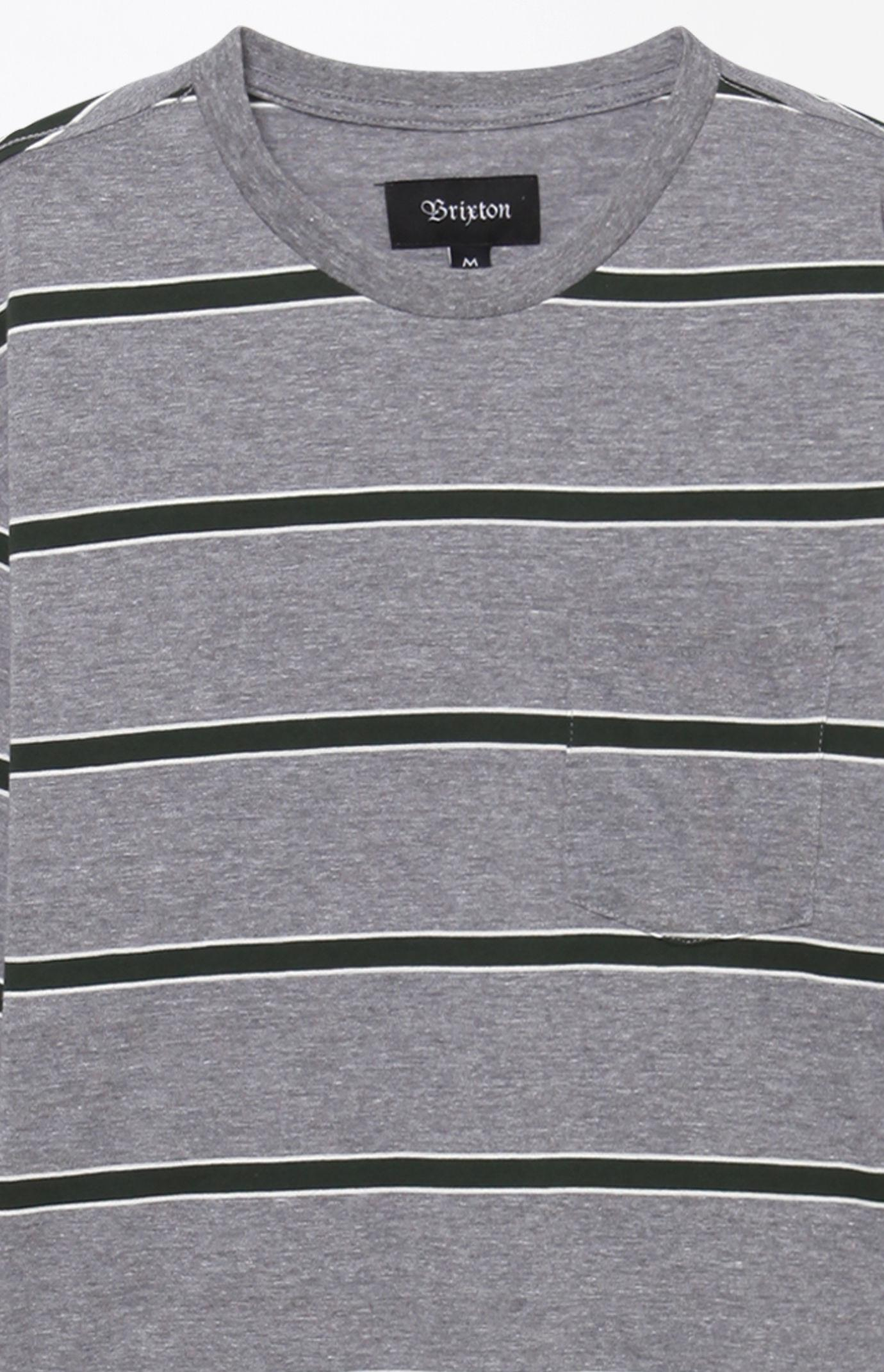 2fd4d0878a Lyst - Brixton Hilt Washed Stripe Grey Long Sleeve T-shirt in Gray ...