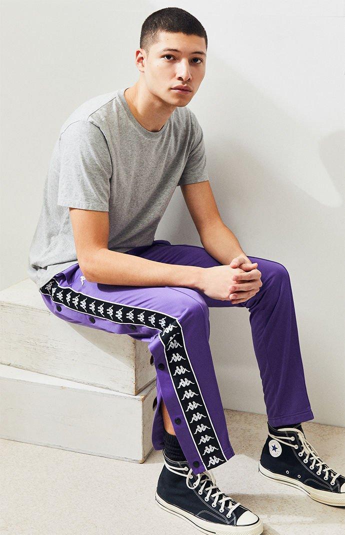 b5bd6c0695c882 ... Banda Astoria Snap Button Slim Track Pants for Men - Lyst. View  fullscreen