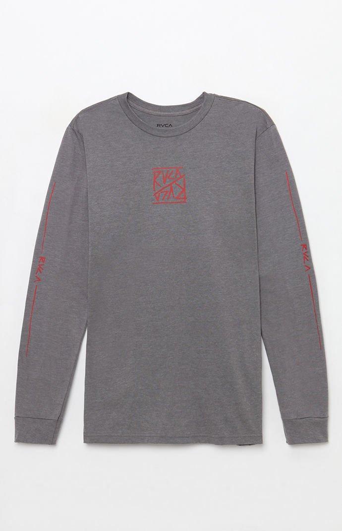 eaf0e77b Lyst - Rvca Flipper Long Sleeve T-shirt in Gray for Men