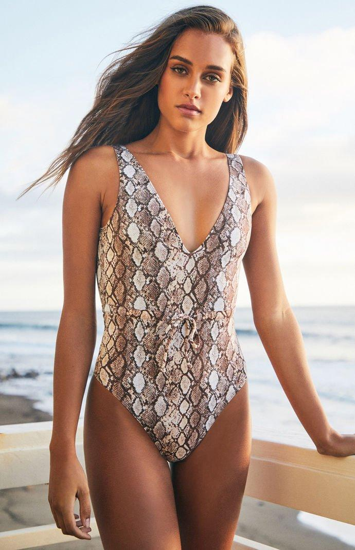 1bb4a0a51f Kendall + Kylie Tatum Drawstring One Piece Swimsuit - Lyst