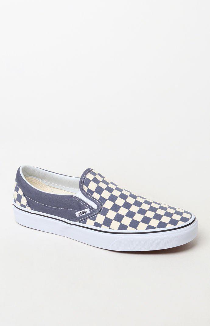 9c6f15e3c0 Vans - Blue Color Theory Checker Slip-on Shoes for Men - Lyst. View  fullscreen