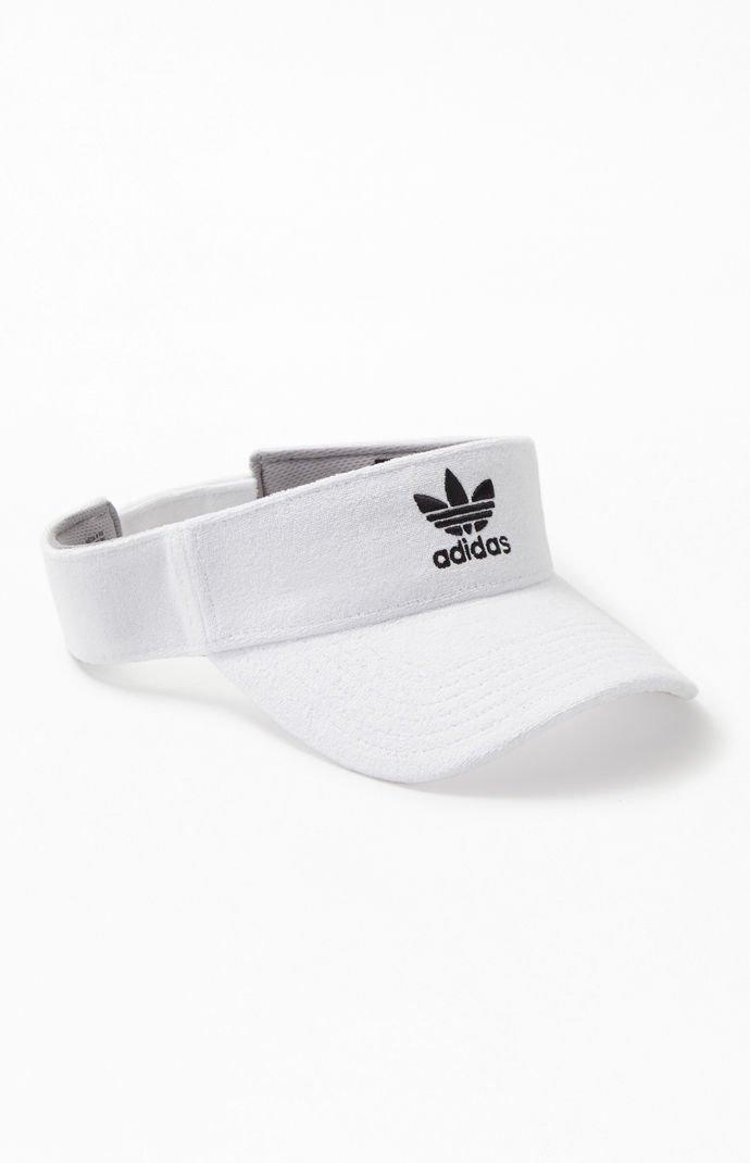 f5149b4c0869d Lyst - adidas White Terry Trefoil Visor in White for Men