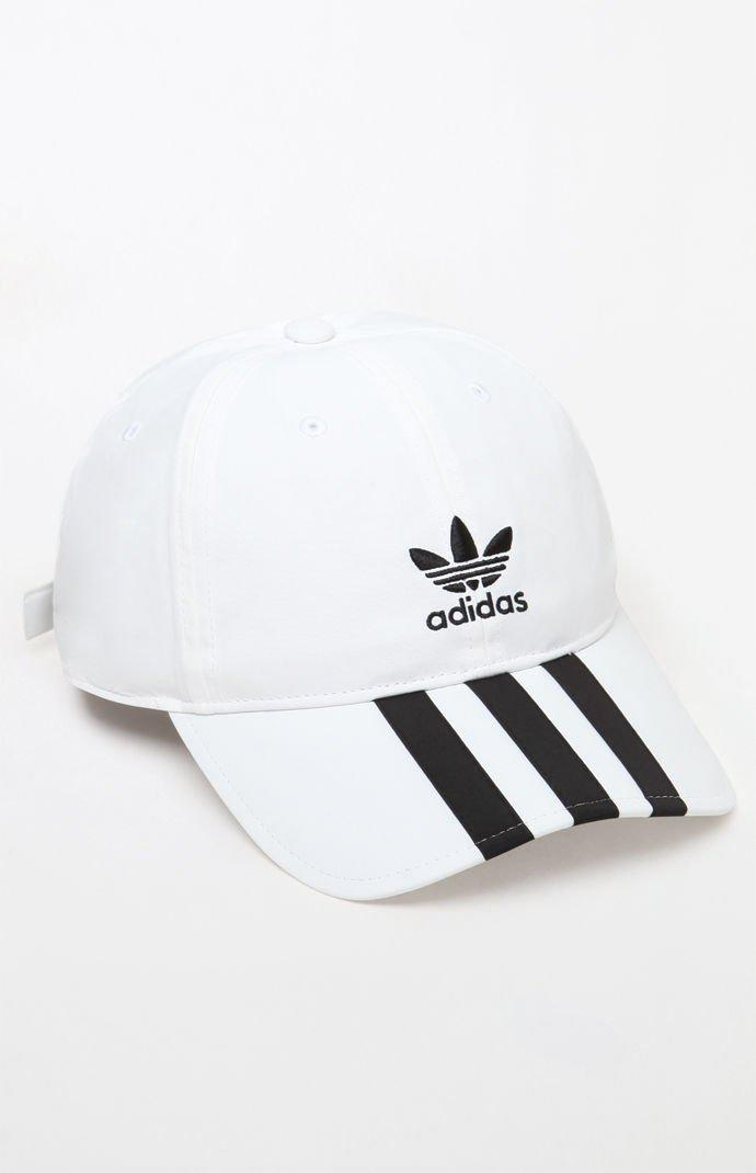 1e74bf07490 Adidas - White Relaxed Applique Strapback Dad Hat for Men - Lyst. View  fullscreen