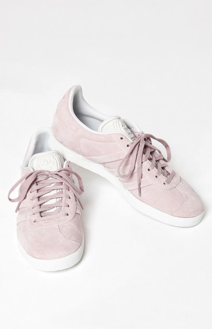 on sale ae375 81c8f Adidas - Womens Pink Gazelle Stitch And Turn Sneakers - Lyst. View  fullscreen