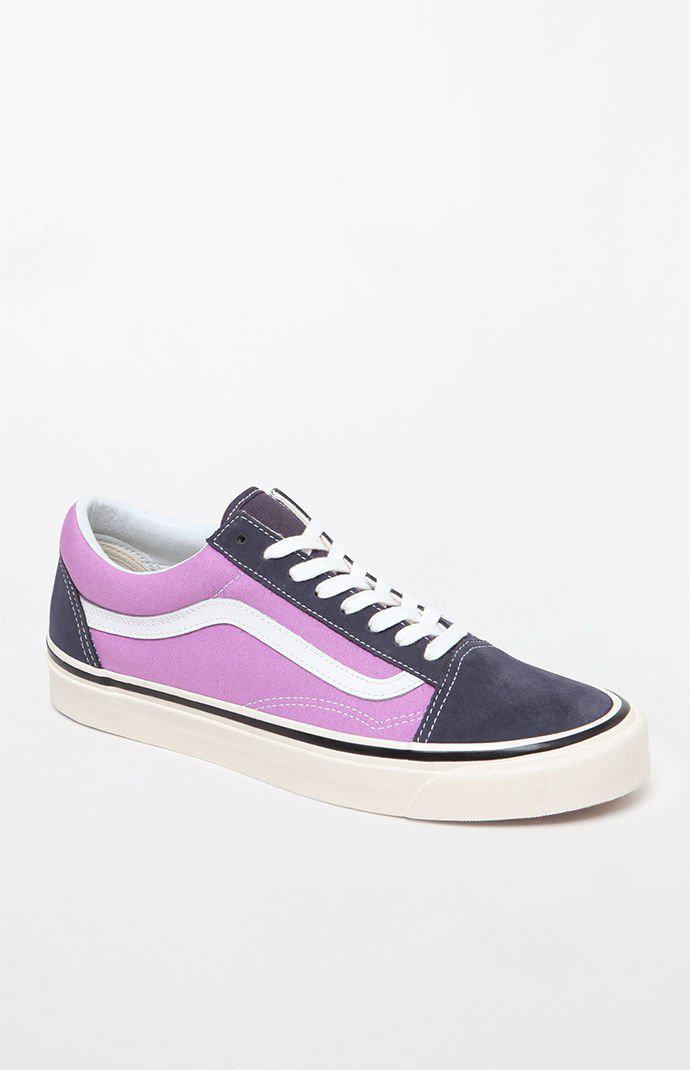 8da7b61aff Lyst - Vans Anaheim Factory Old Skool 36 Dx Navy   Purple Shoes in ...