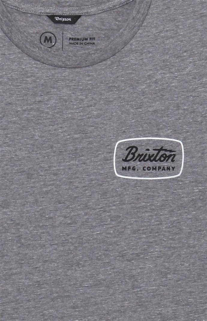 e7017e6e127198 Lyst - Brixton Jolt Grey T-shirt in Gray for Men