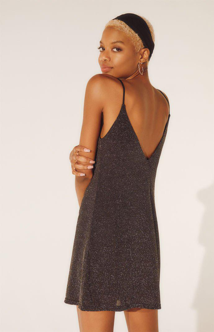 Lyst - Kendall + Kylie Sparkly Mini Dress in Black 48e392478