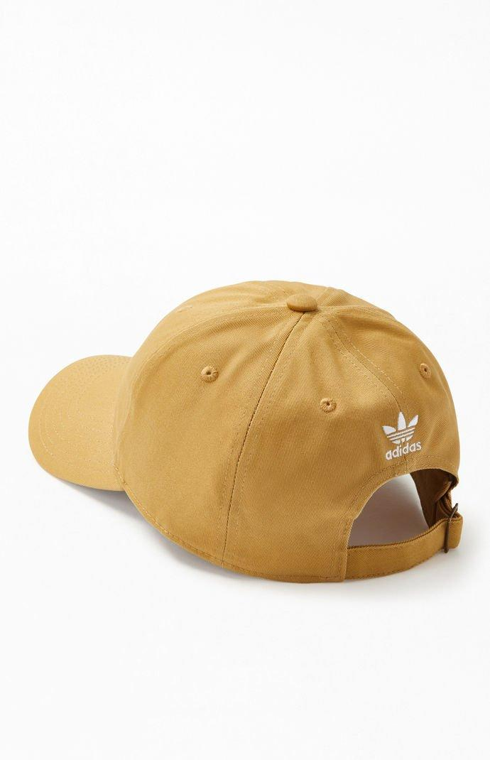 be3d51b5f94 Adidas - Natural Khaki Relaxed Strapback Dad Hat for Men - Lyst. View  fullscreen