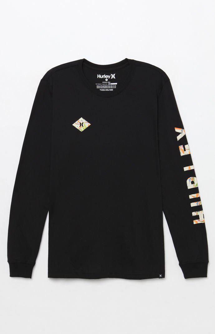 8fcec00f2b8c40 Lyst - Hurley Dri-fit Fronds Long Sleeve T-shirt in Black for Men