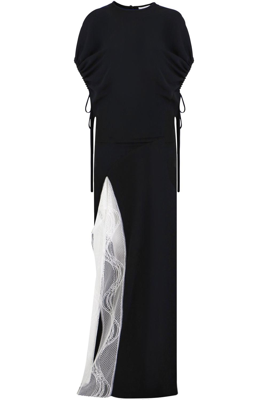 Split In One Christopher Lace Blacknatural Esber Sleeve Dress With TOkXZiuP