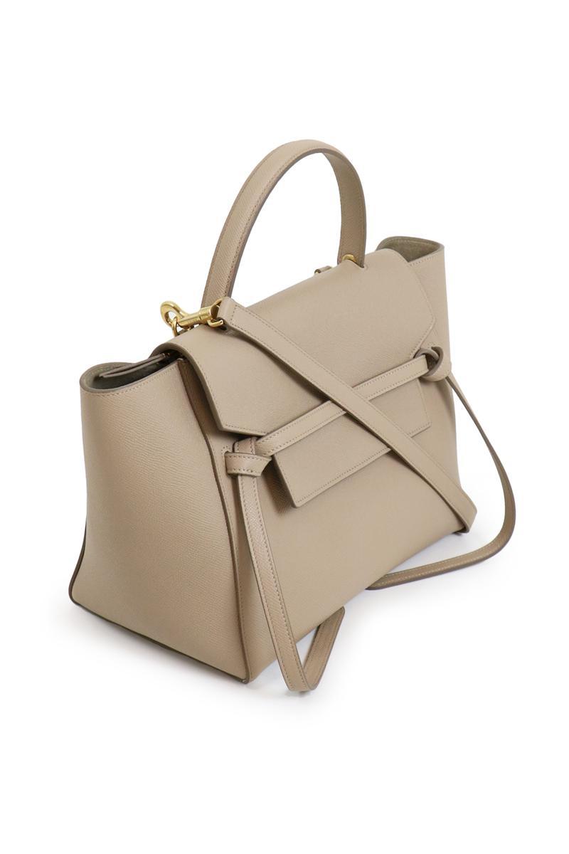 68cb63dd9807 ... buy online cf4c2 beff9 Lyst - Céline Micro Belt Bag Light Taupe in Black  ...