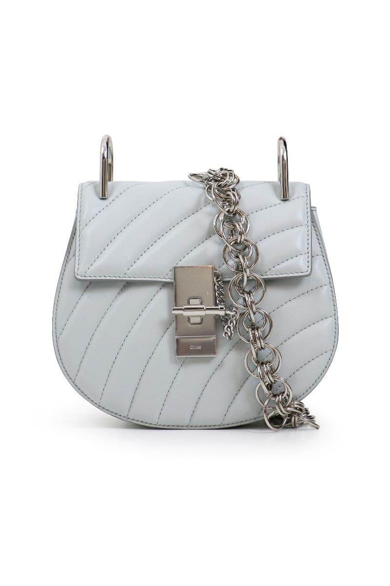 209144fd8dc Chloé Drew Bijou Mini Bag Airy Grey/silver in Gray - Lyst