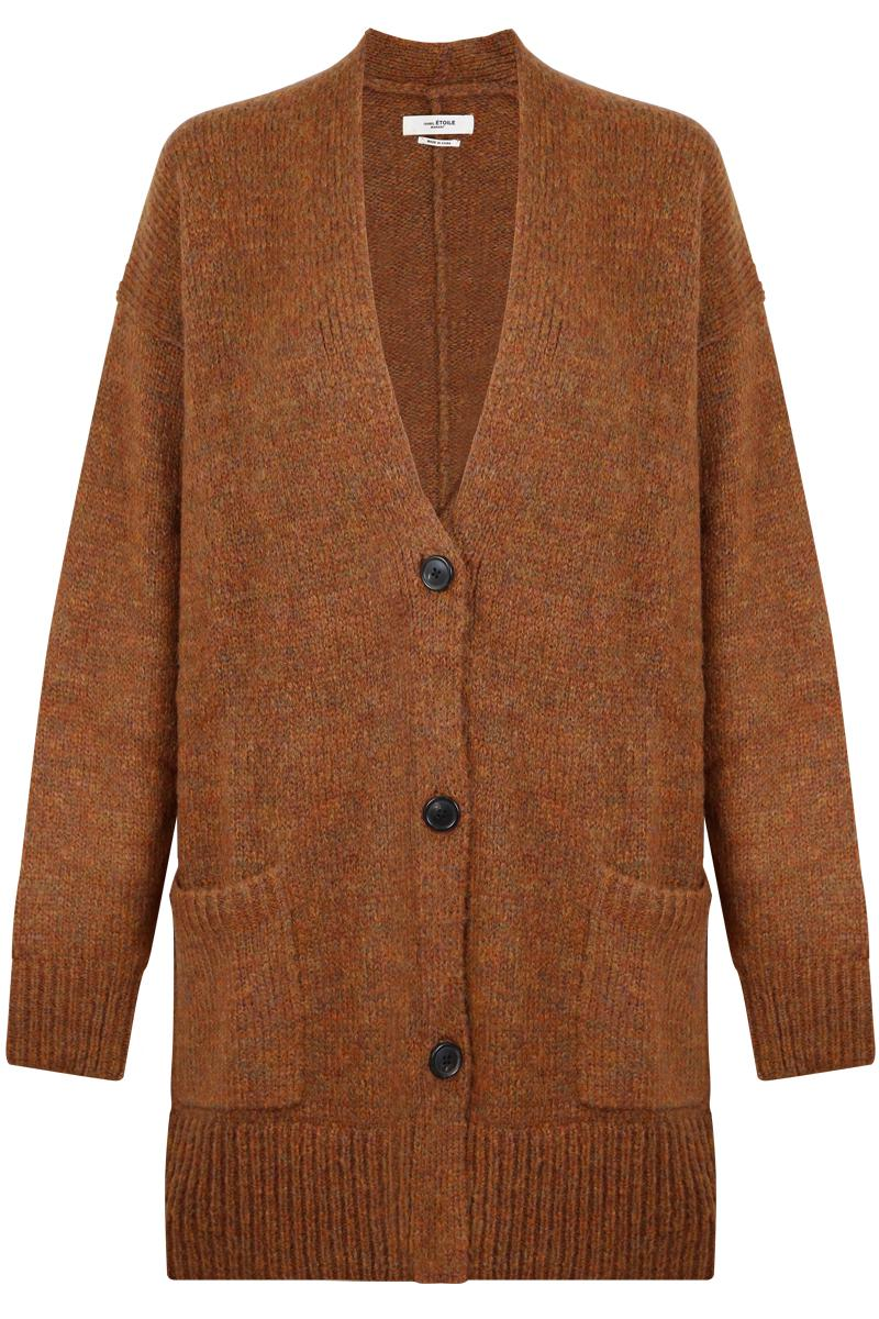 Isabel marant Etoile Daxton Thick Cardigan Rust in Brown | Lyst