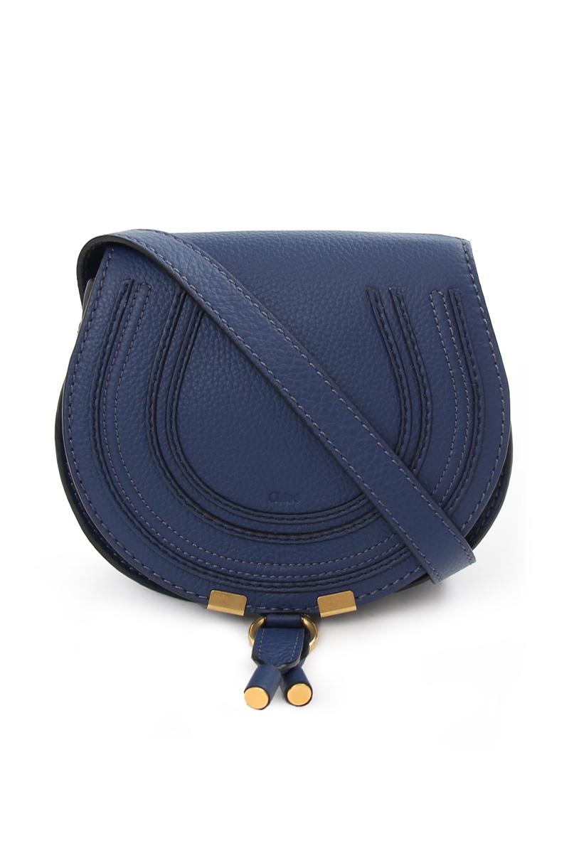 5f124be9e27 Chloé Marcie Small Saddle Bag Royal Navy in Blue - Lyst