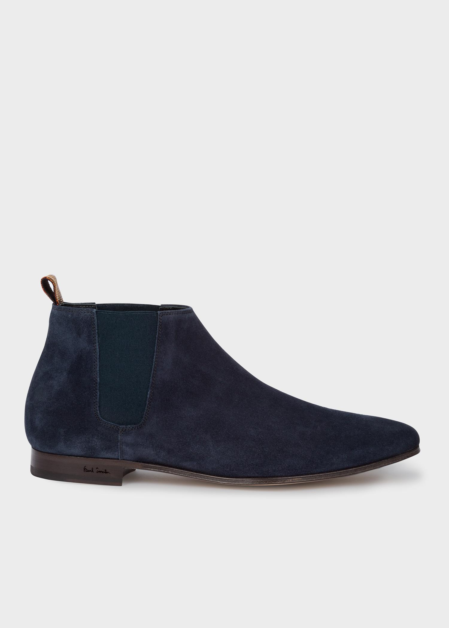 d54f108807f50 Paul Smith Dark Navy Suede Leather 'marlowe' Chelsea Boots in Blue ...