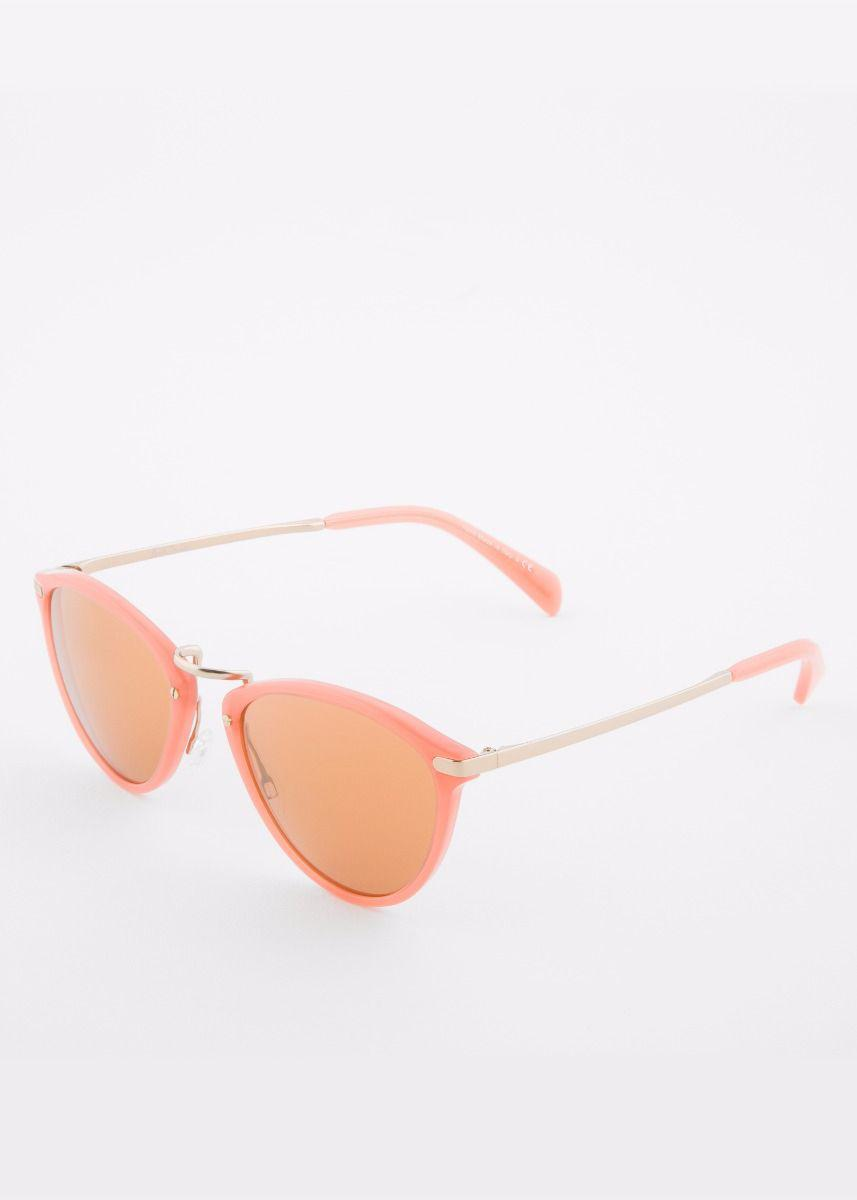 fb3b28bf47a5 Paul Smith Semi-matte Coral And Gold  hawley  Mirrored Sunglasses in ...