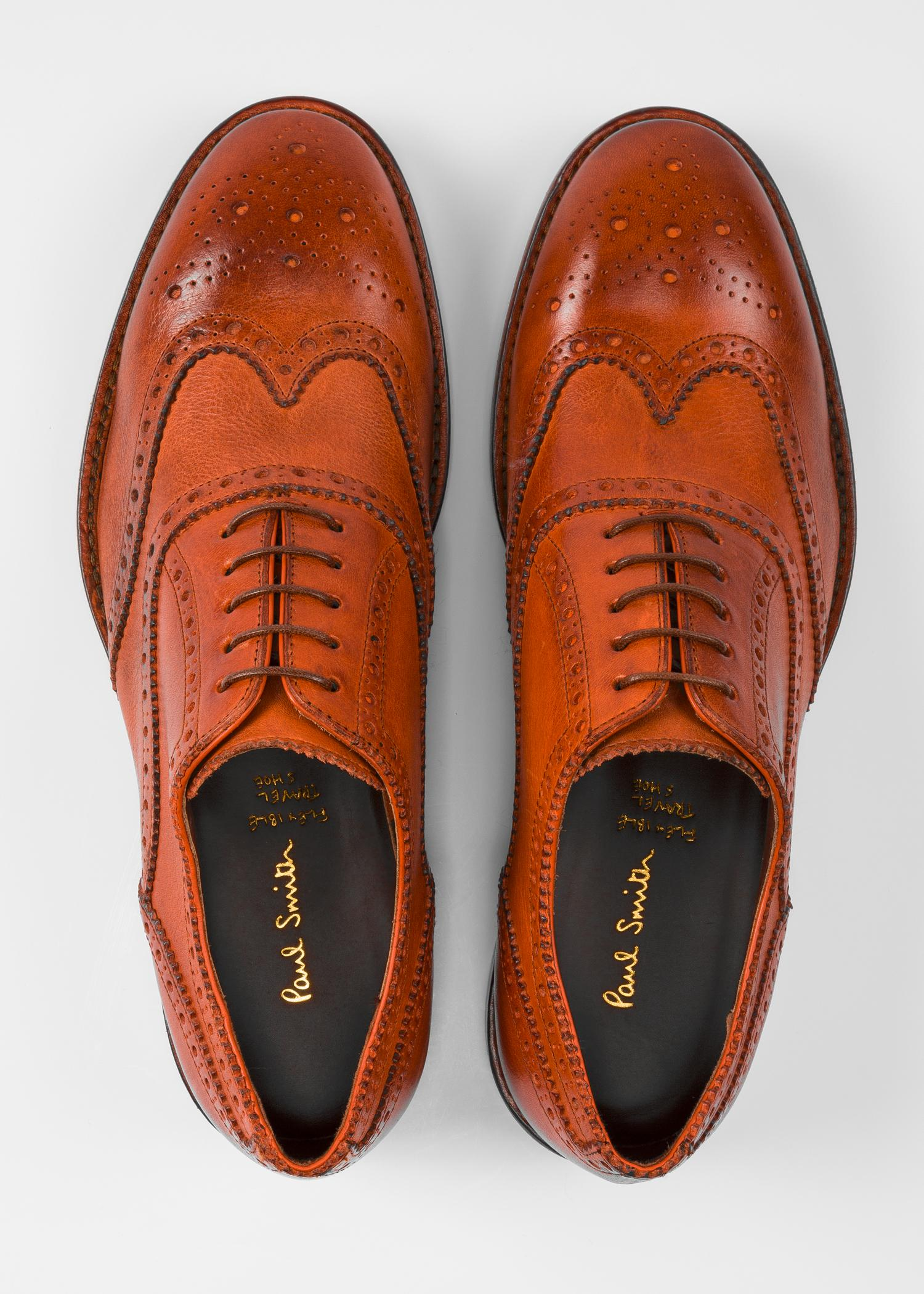 f4b2fba8dbc Paul Smith Tan Leather 'munro' Flexible Travel Brogues in Brown for ...