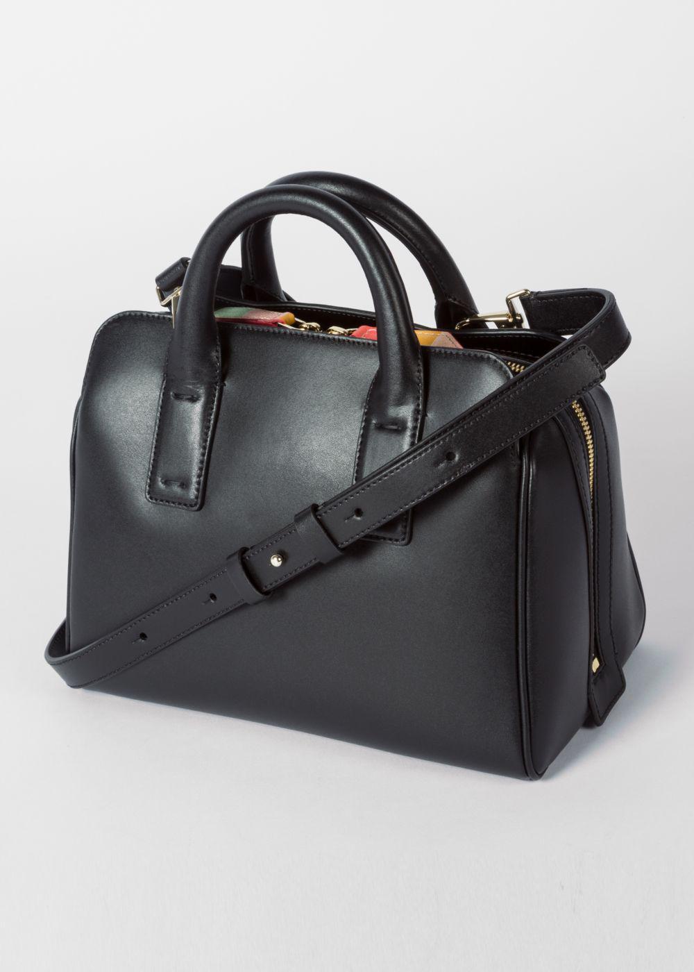 3d99d85c67f7 Paul Smith Women s Black Leather Mini Bowling Bag With  artist ...